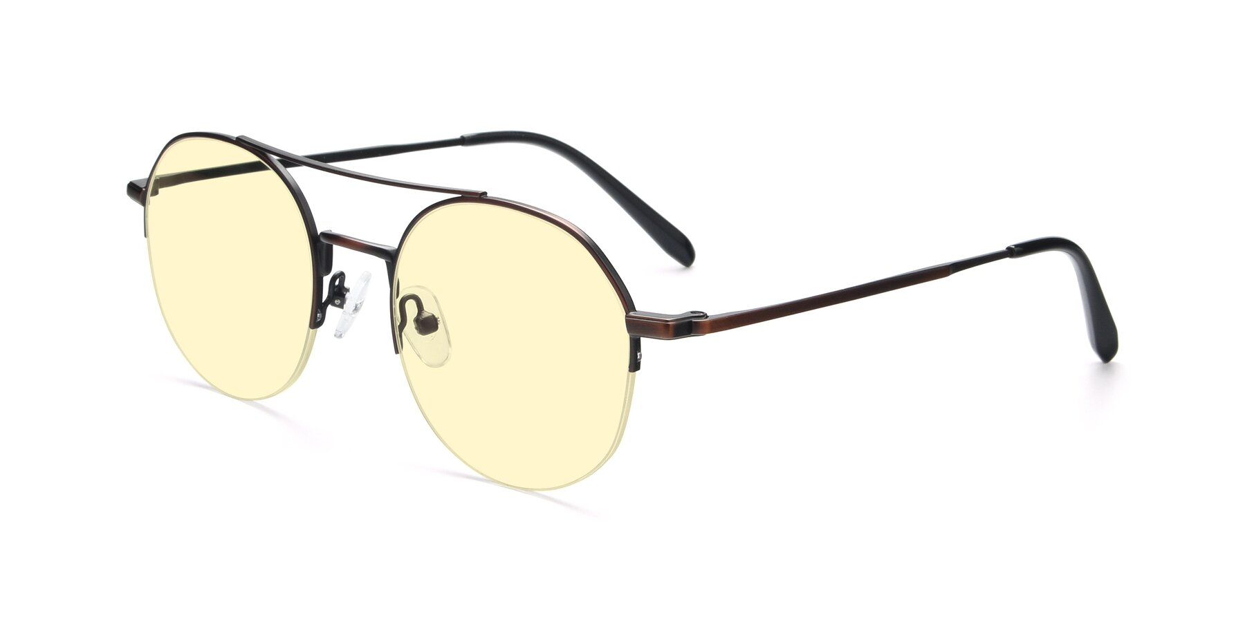Angle of 9521 in Brown with Light Yellow Tinted Lenses