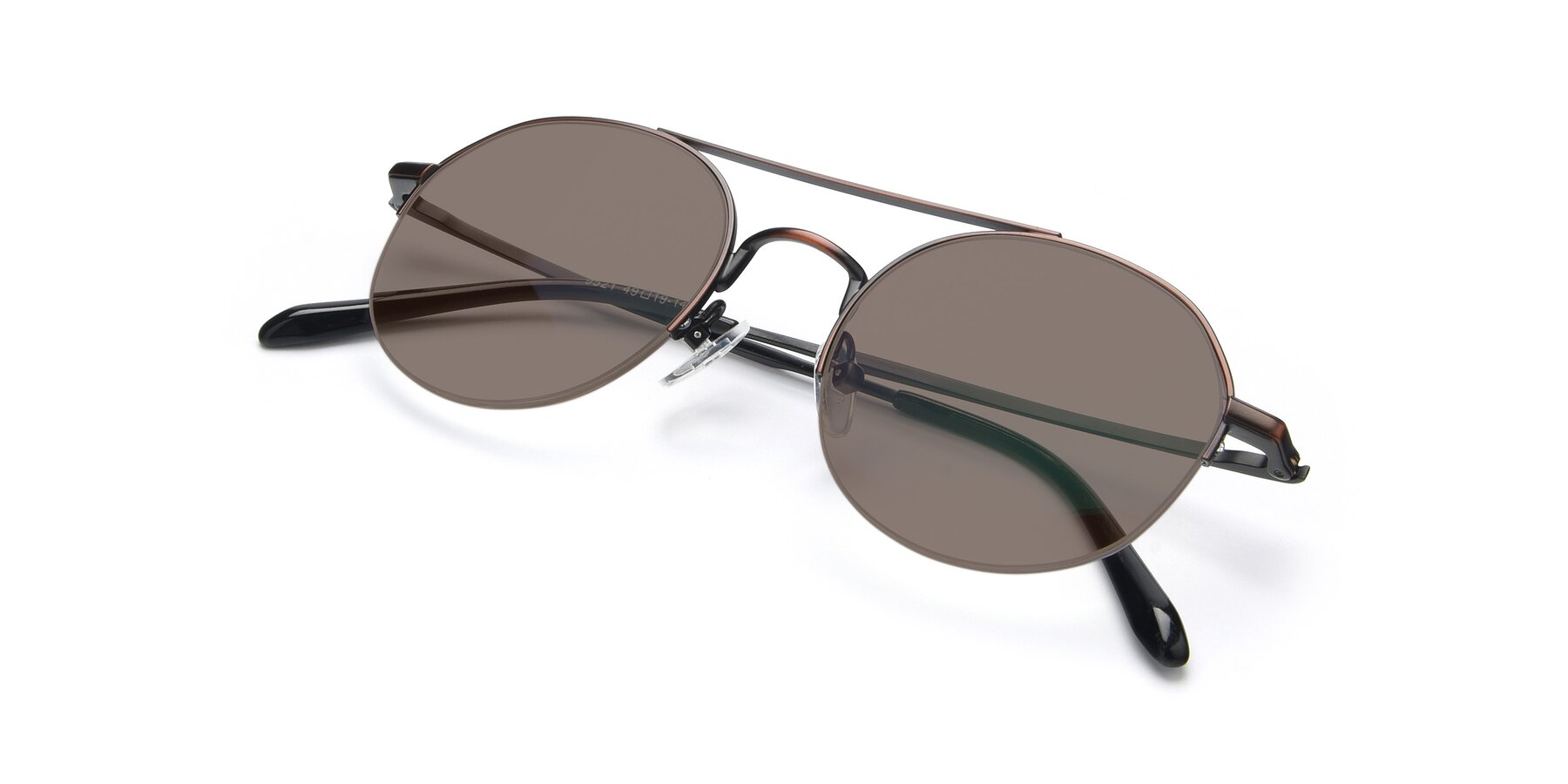 View of 9521 in Brown with Medium Brown Tinted Lenses