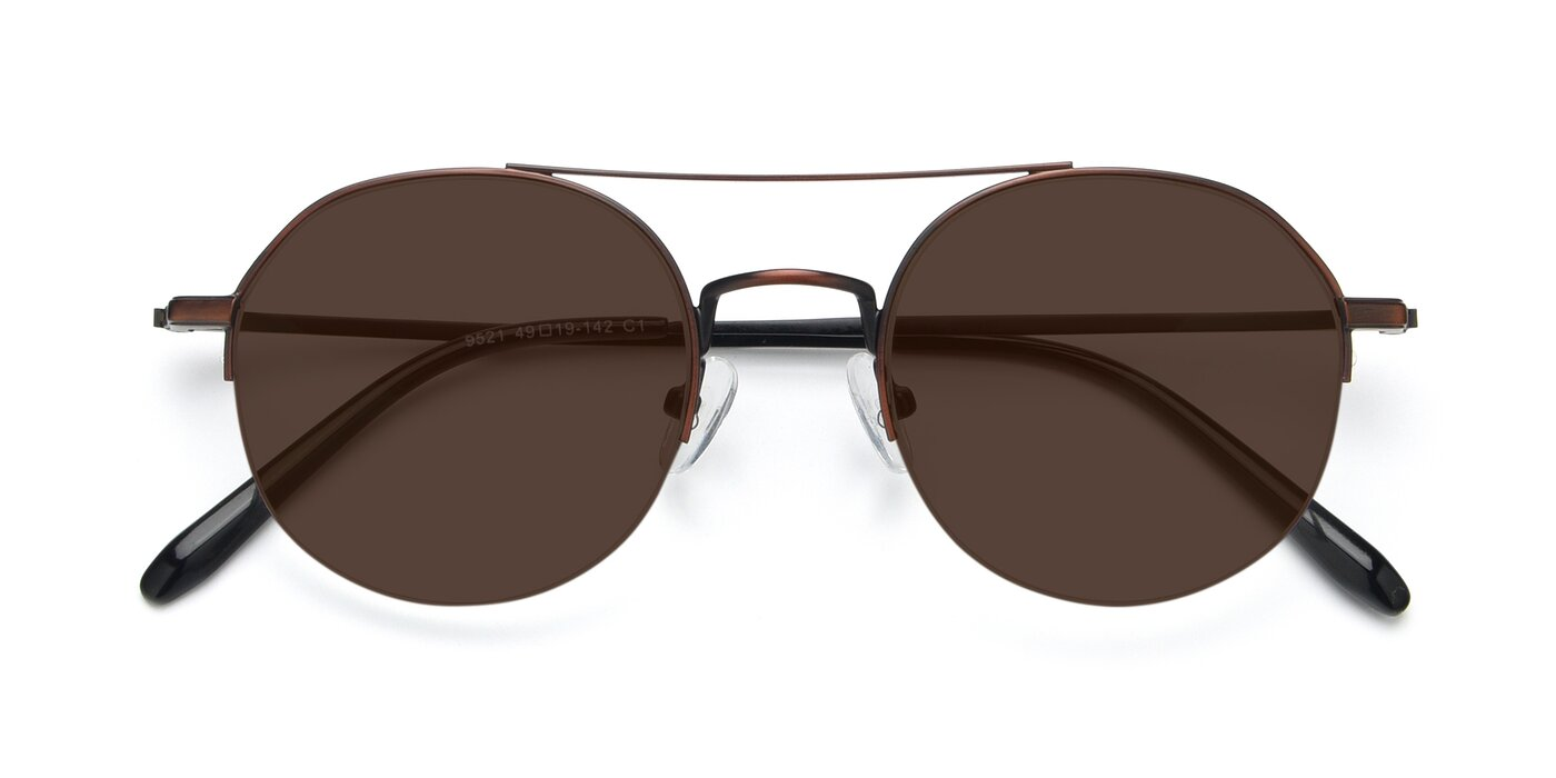9521 - Brown Tinted Sunglasses