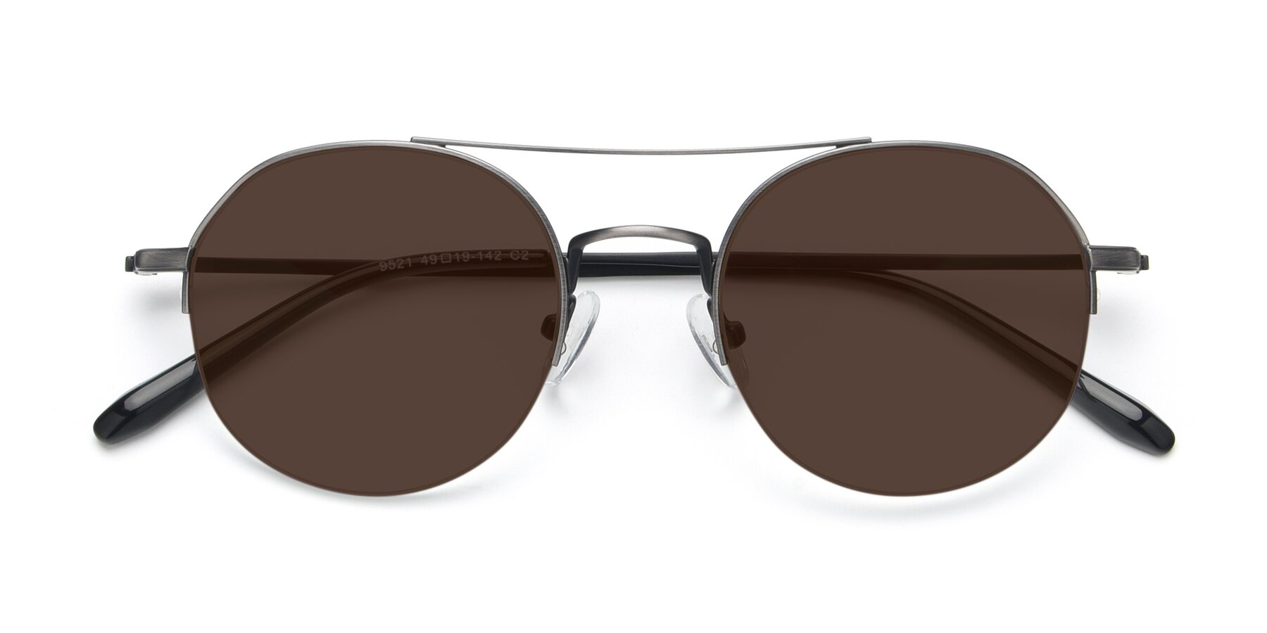 Folded Front of 9521 in Gun with Brown Tinted Lenses