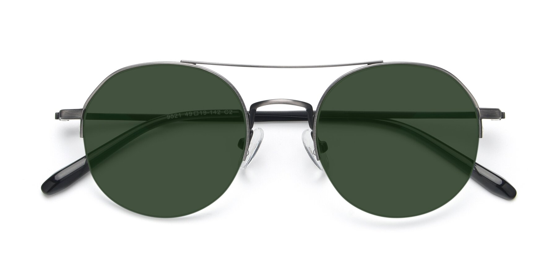 Folded Front of 9521 in Gun with Green Tinted Lenses
