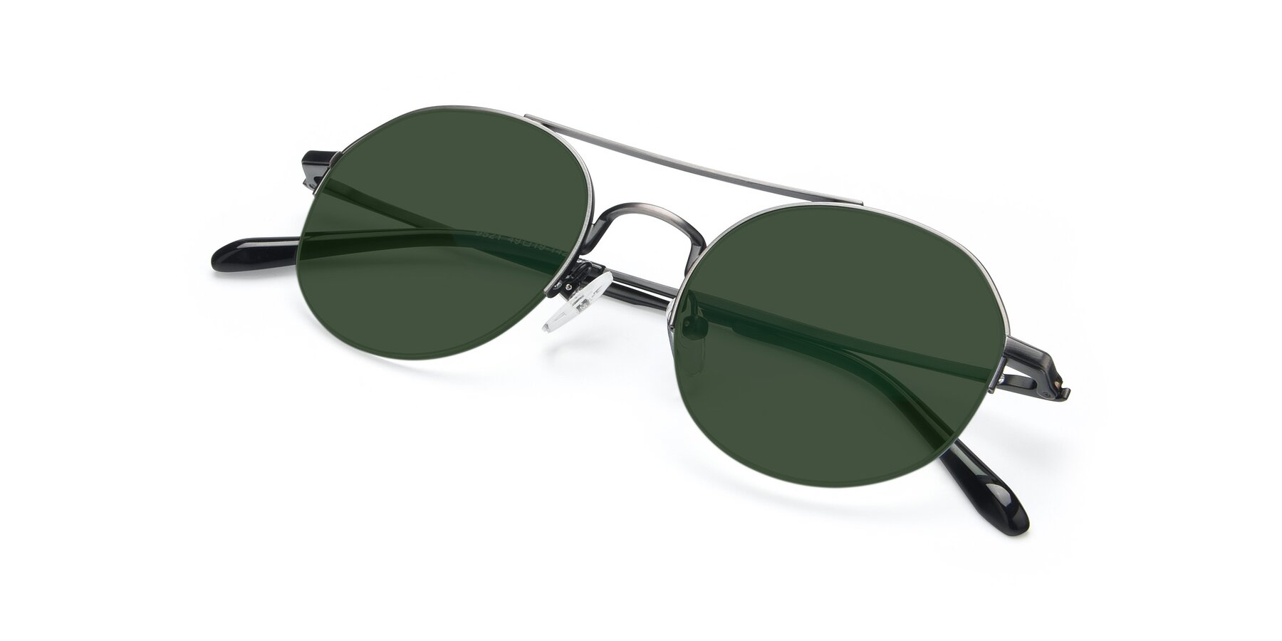 View of 9521 in Gun with Green Tinted Lenses