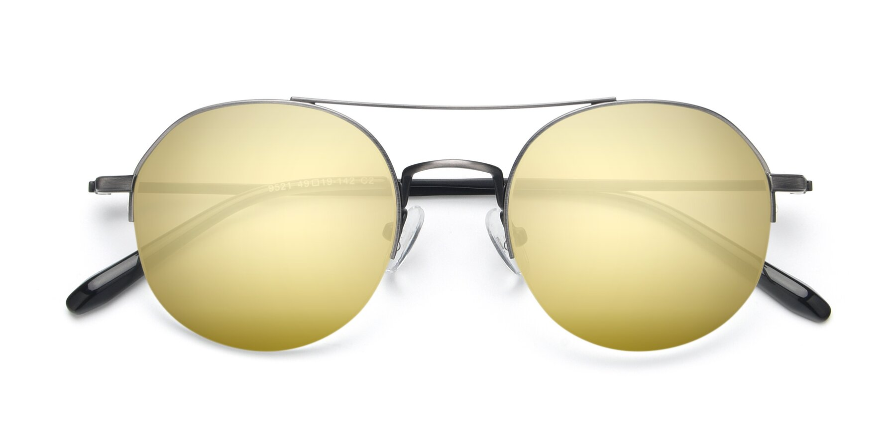 Folded Front of 9521 in Gun with Gold Mirrored Lenses