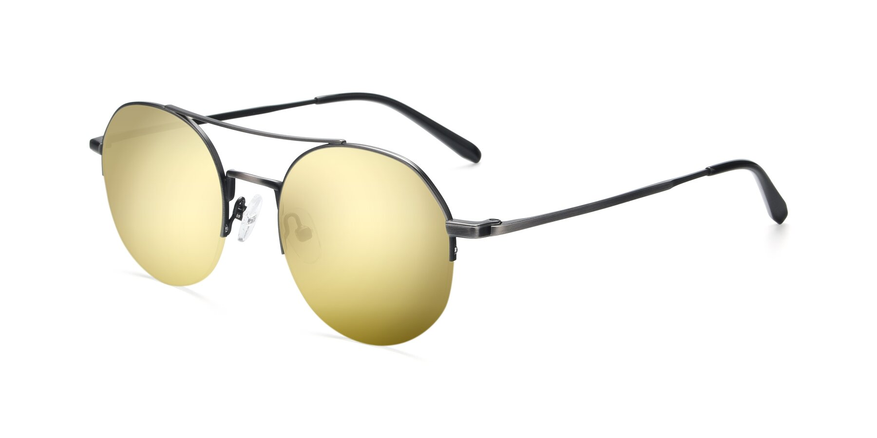 Angle of 9521 in Gun with Gold Mirrored Lenses