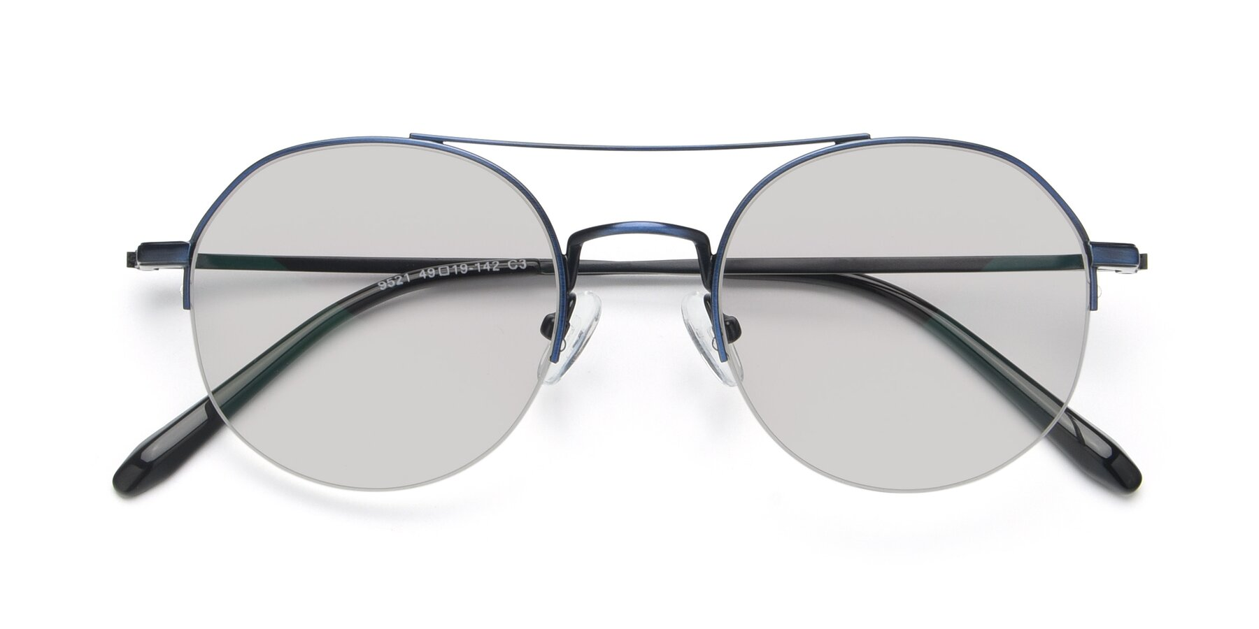 Folded Front of 9521 in Blue with Light Gray Tinted Lenses