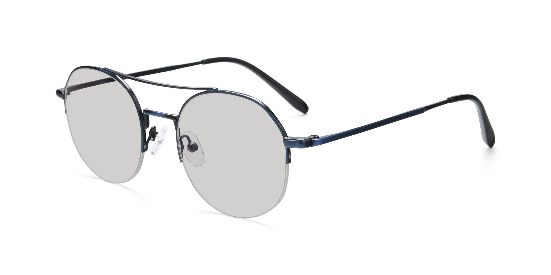 Angle of 9521 in Blue with Light Gray Tinted Lenses