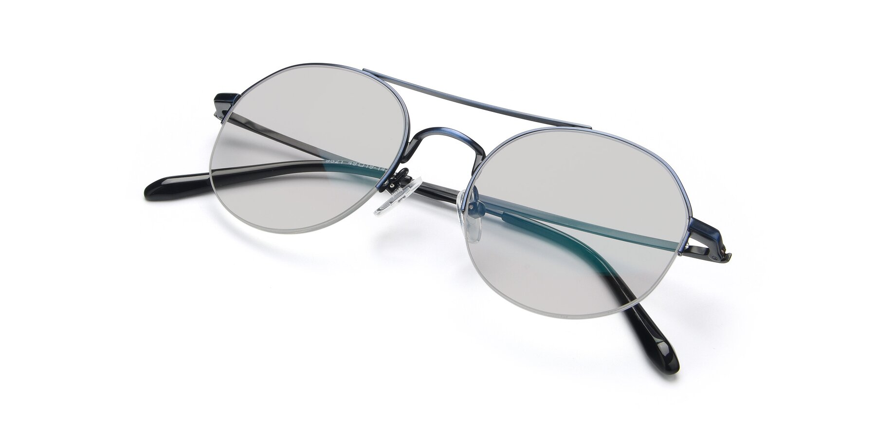 View of 9521 in Blue with Light Gray Tinted Lenses