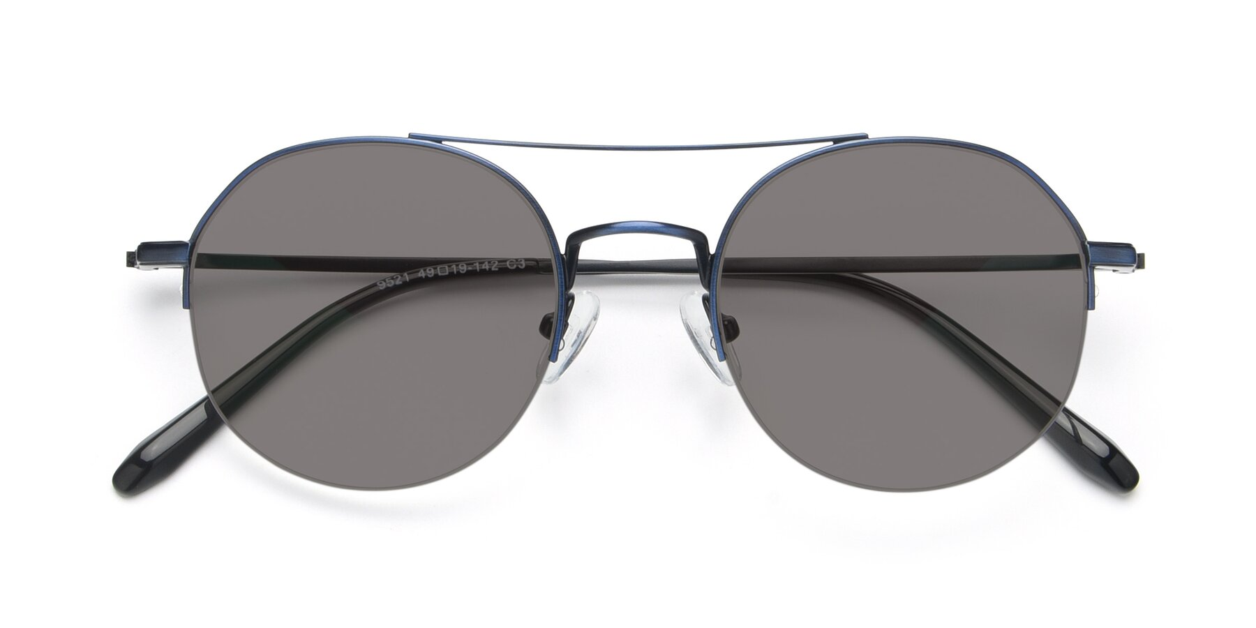 Folded Front of 9521 in Blue with Medium Gray Tinted Lenses