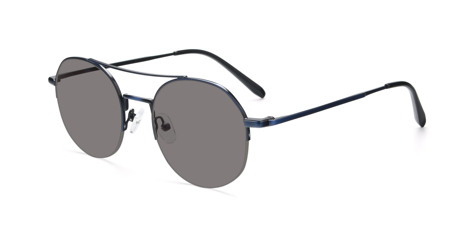 Angle of 9521 in Blue with Medium Gray Tinted Lenses