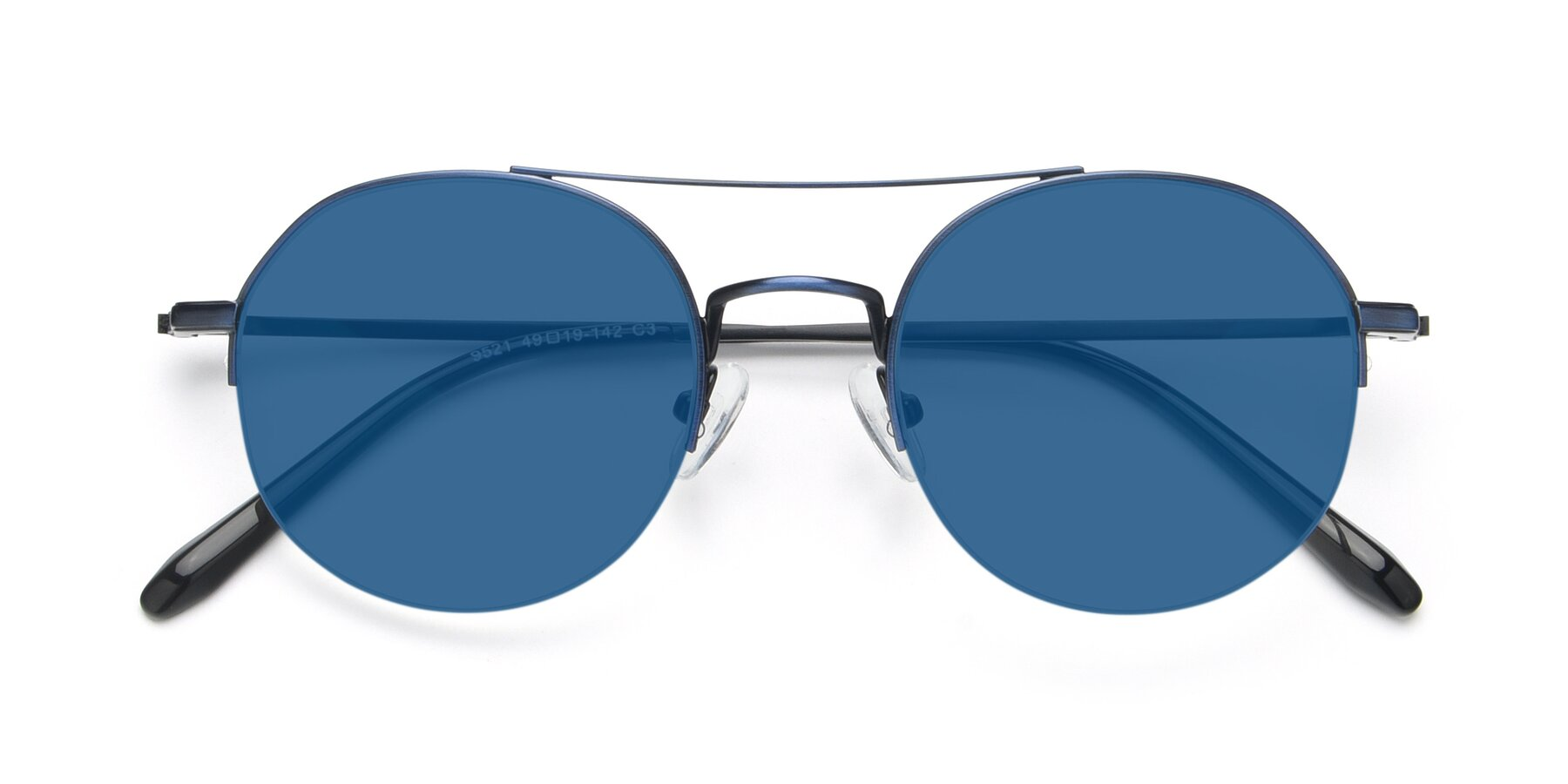 Folded Front of 9521 in Blue with Blue Tinted Lenses