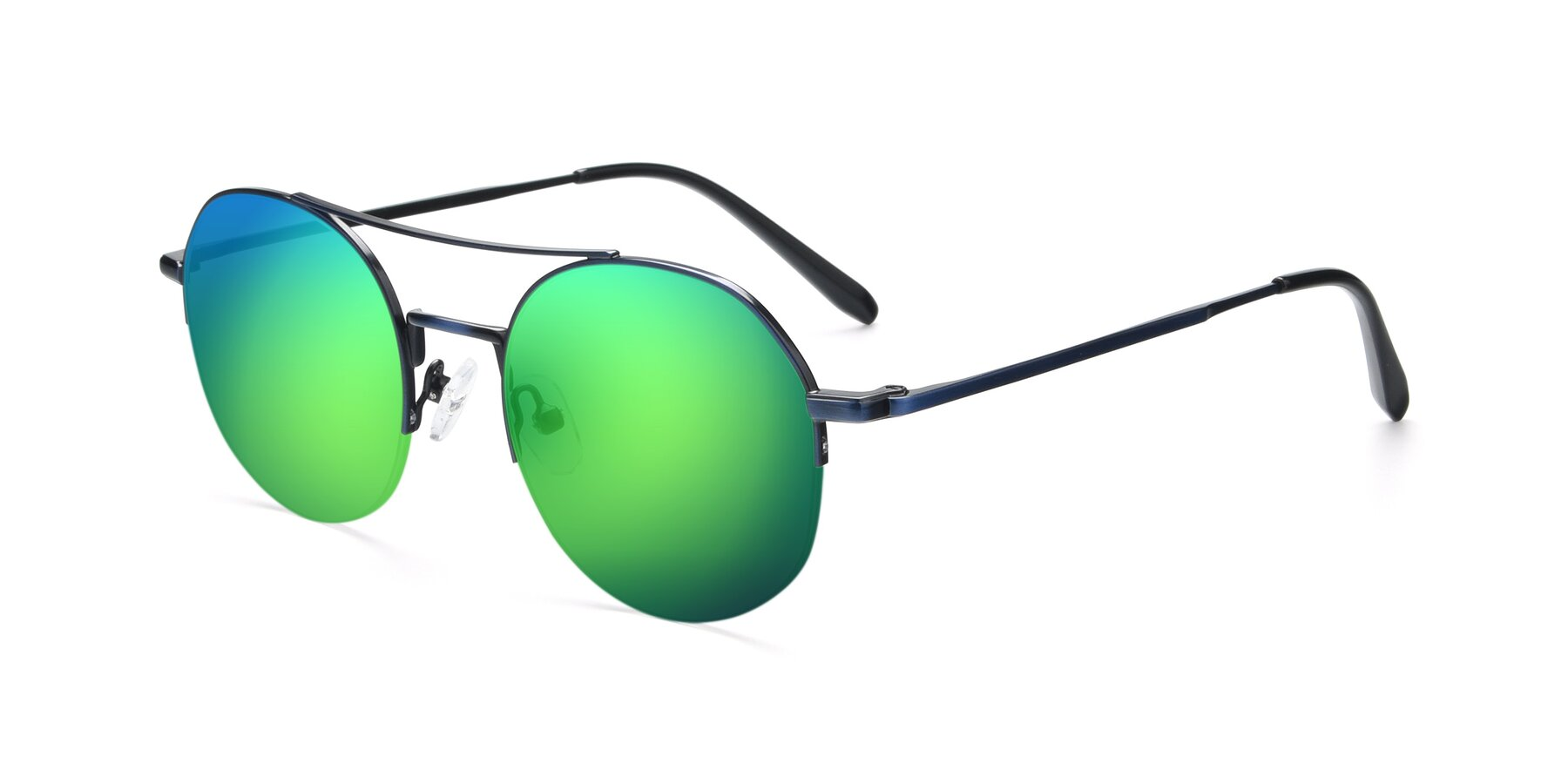 Angle of 9521 in Blue with Green Mirrored Lenses