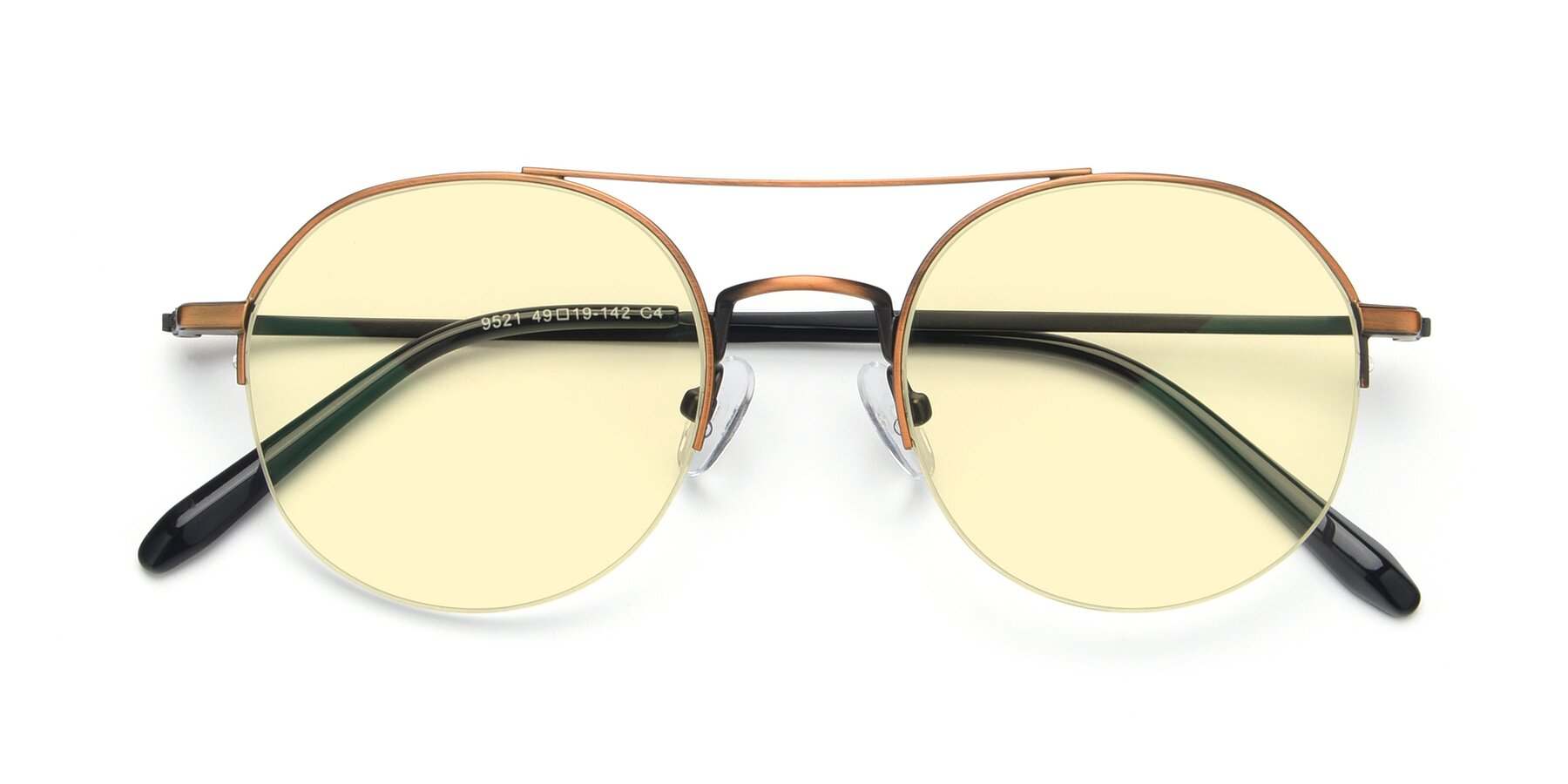 Folded Front of 9521 in Bronze with Light Yellow Tinted Lenses