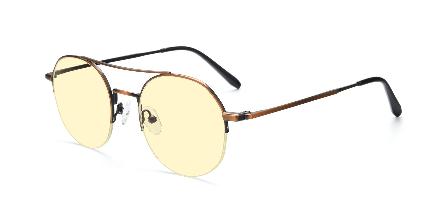 Angle of 9521 in Bronze with Light Yellow Tinted Lenses