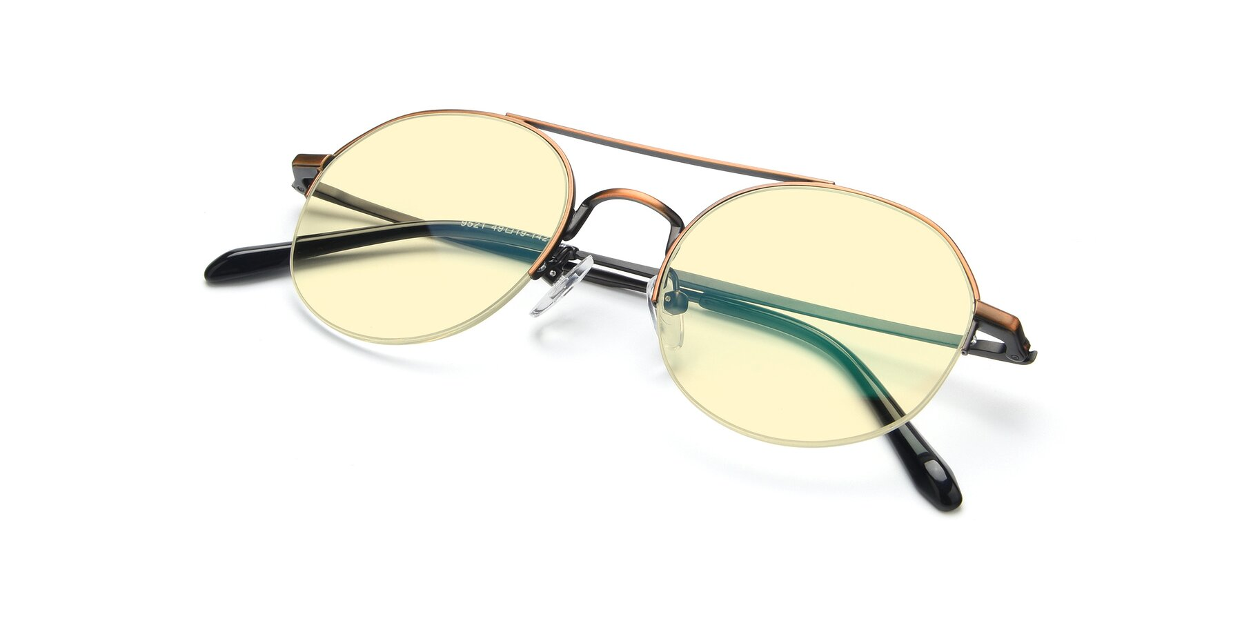 View of 9521 in Bronze with Light Yellow Tinted Lenses