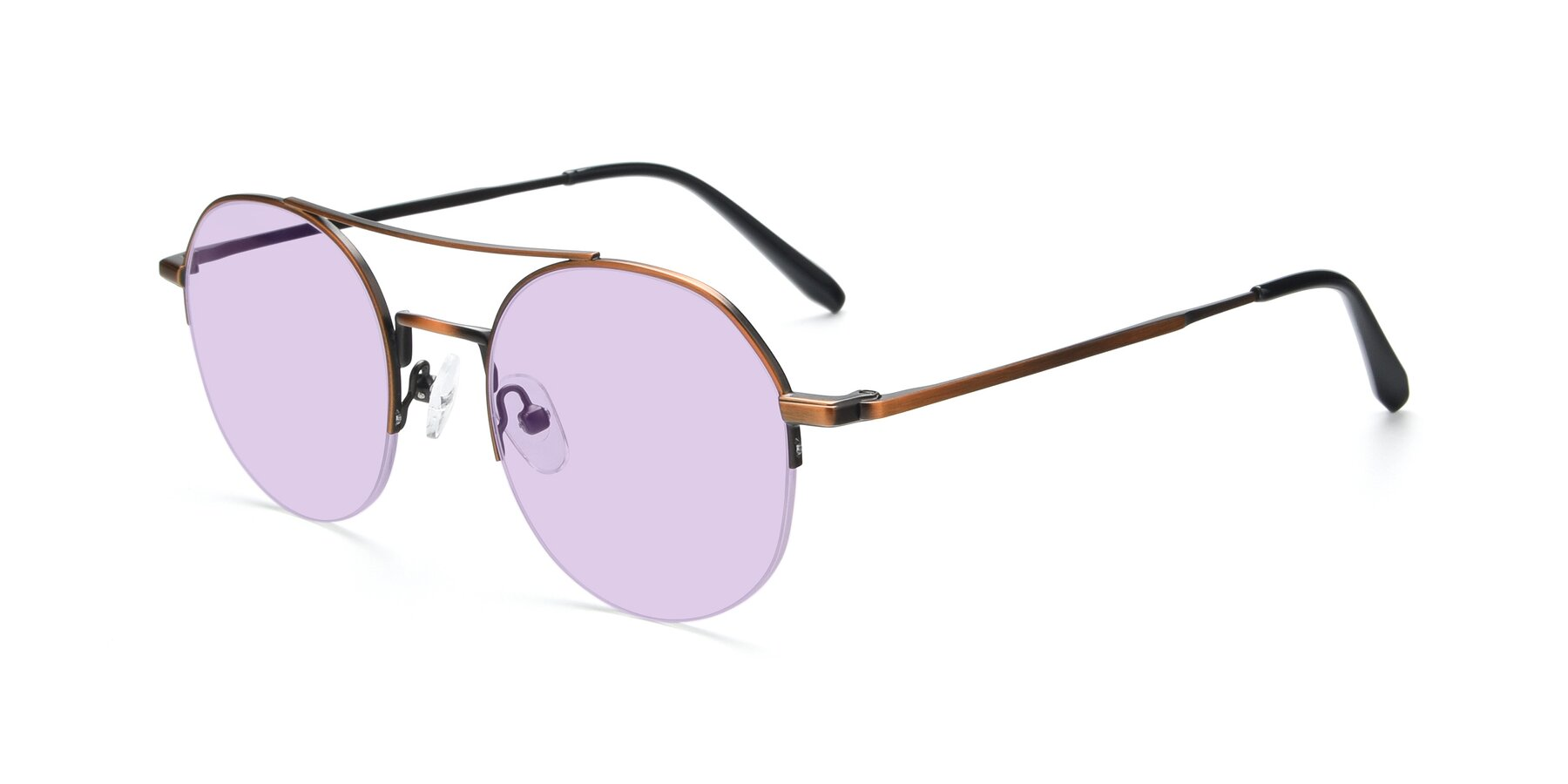 Angle of 9521 in Bronze with Light Purple Tinted Lenses