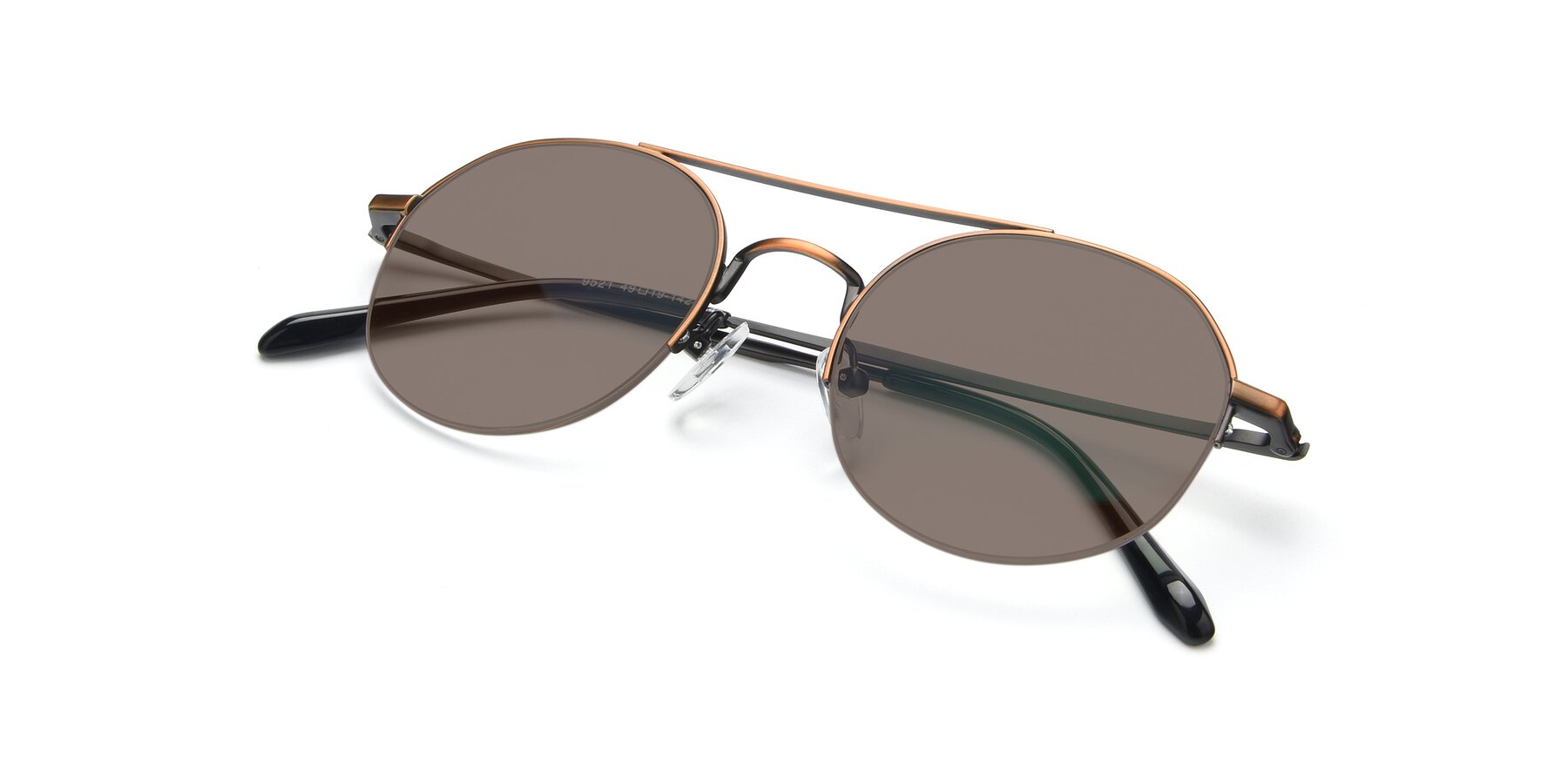 View of 9521 in Bronze with Medium Brown Tinted Lenses