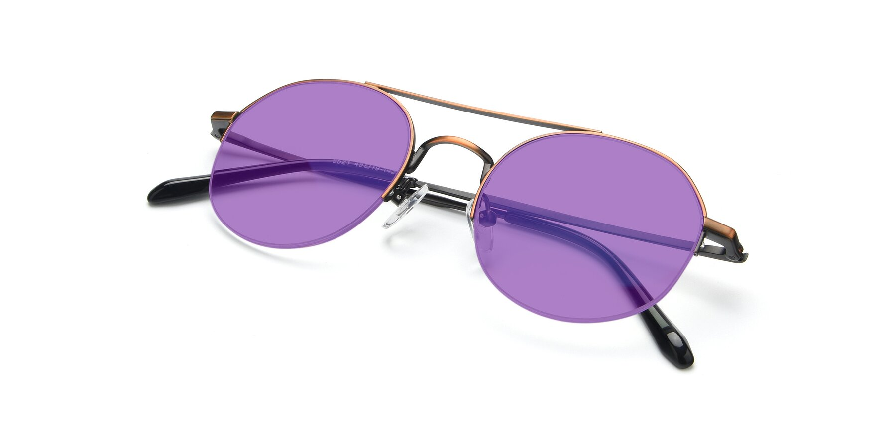 View of 9521 in Bronze with Medium Purple Tinted Lenses