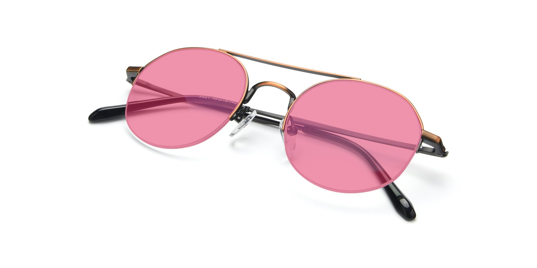View of 9521 in Bronze with Pink Tinted Lenses