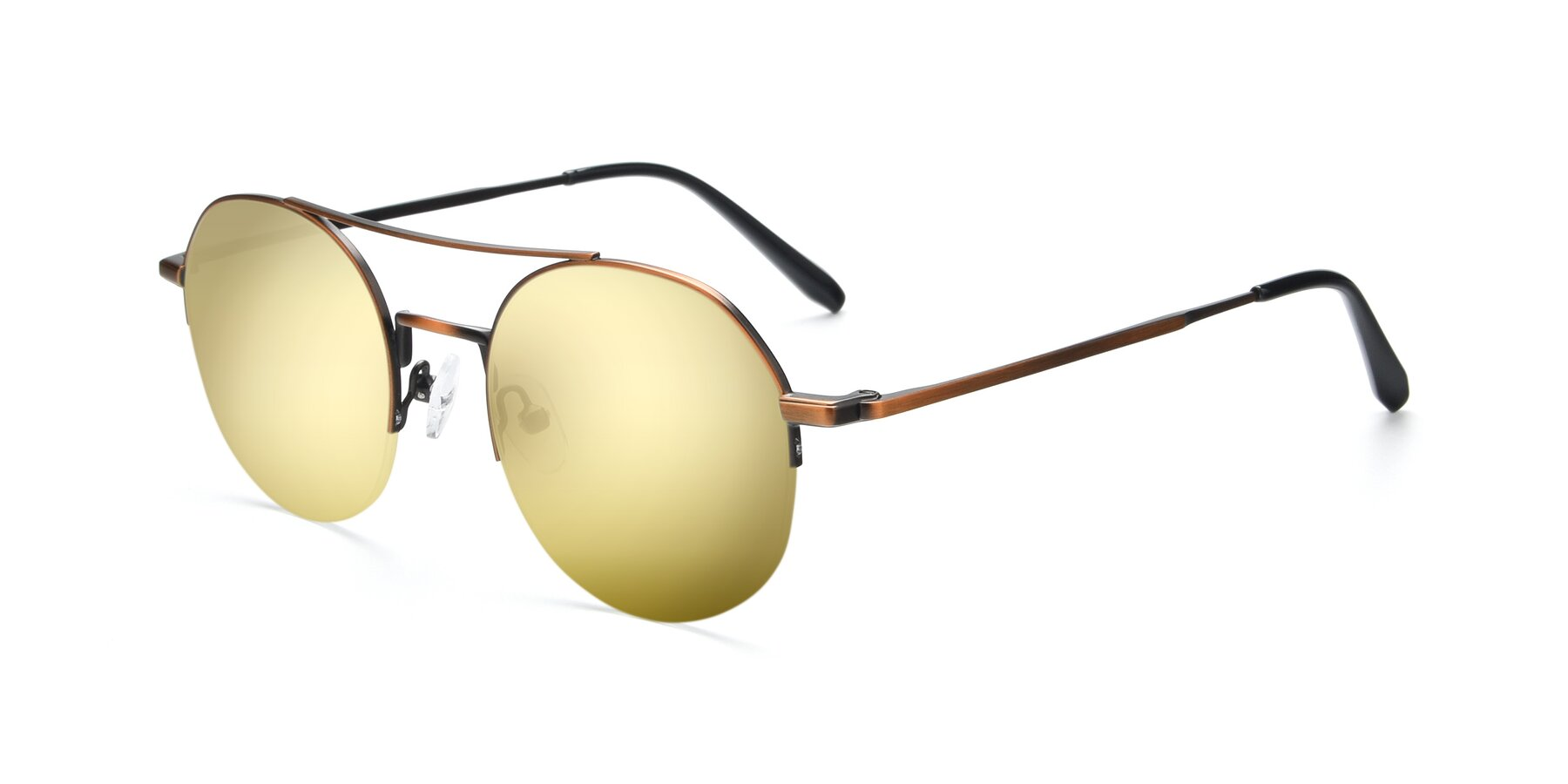 Angle of 9521 in Bronze with Gold Mirrored Lenses