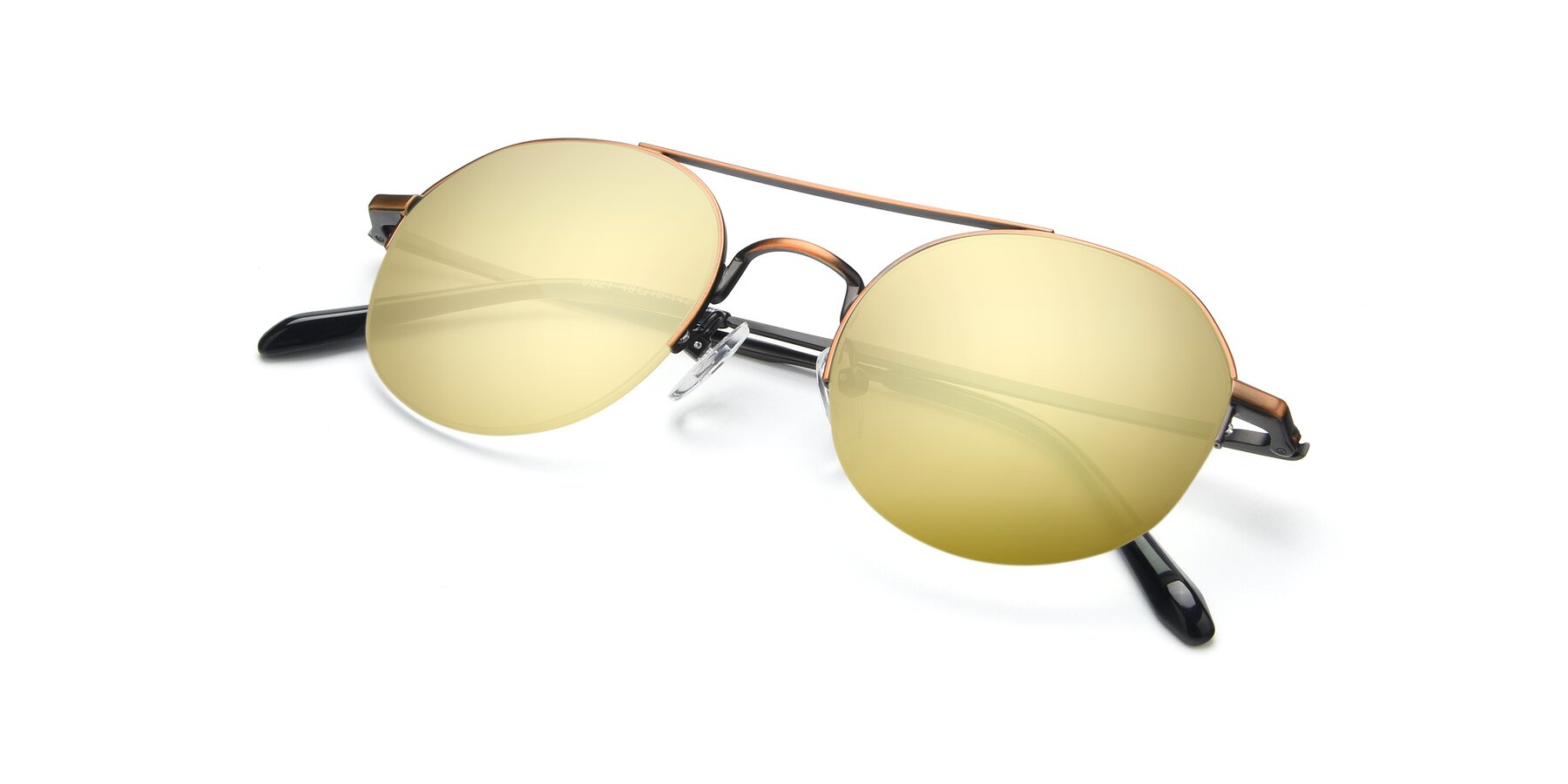 View of 9521 in Bronze with Gold Mirrored Lenses