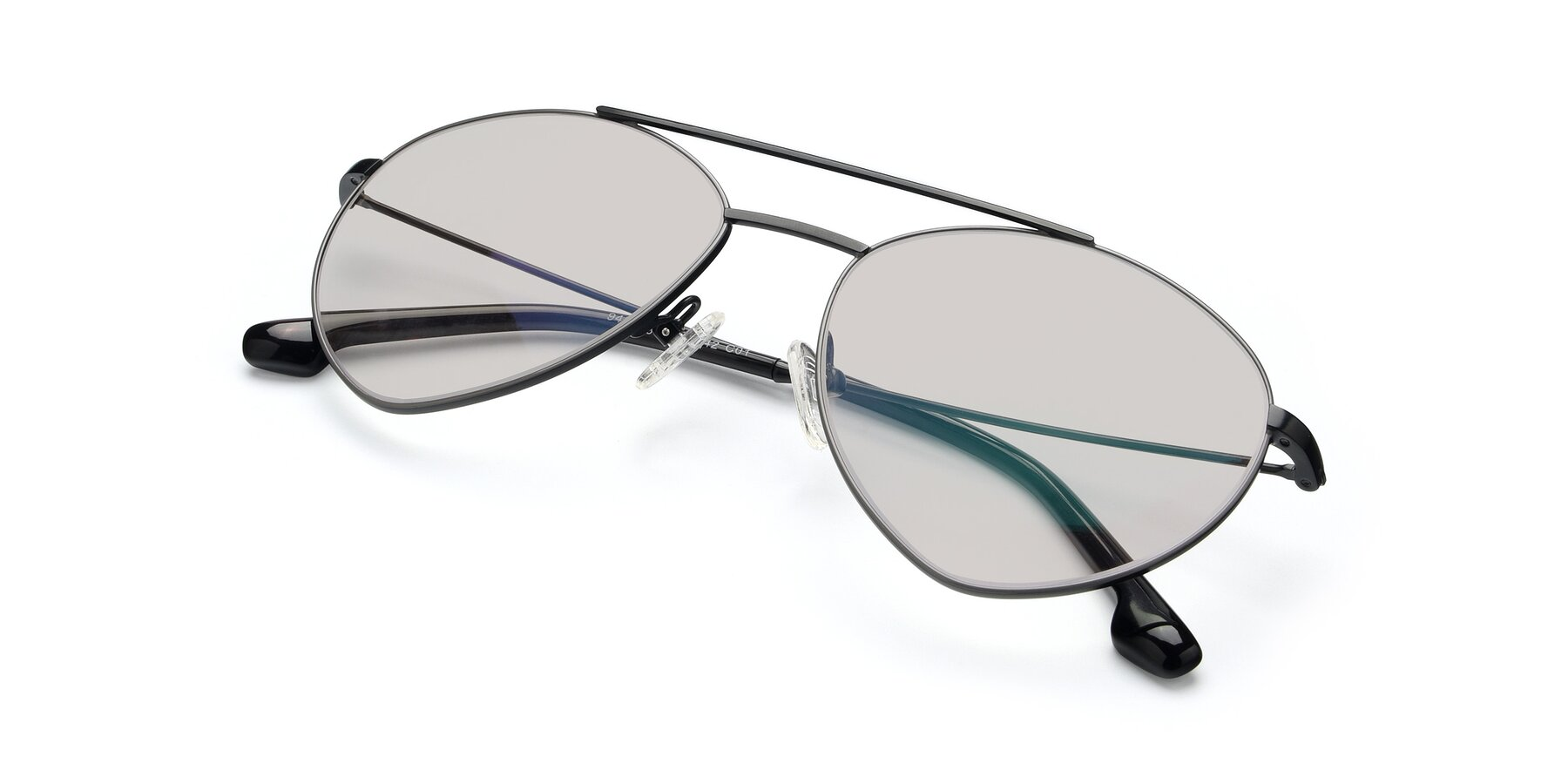 View of 9459 in Matte Black-Grey with Light Brown Tinted Lenses