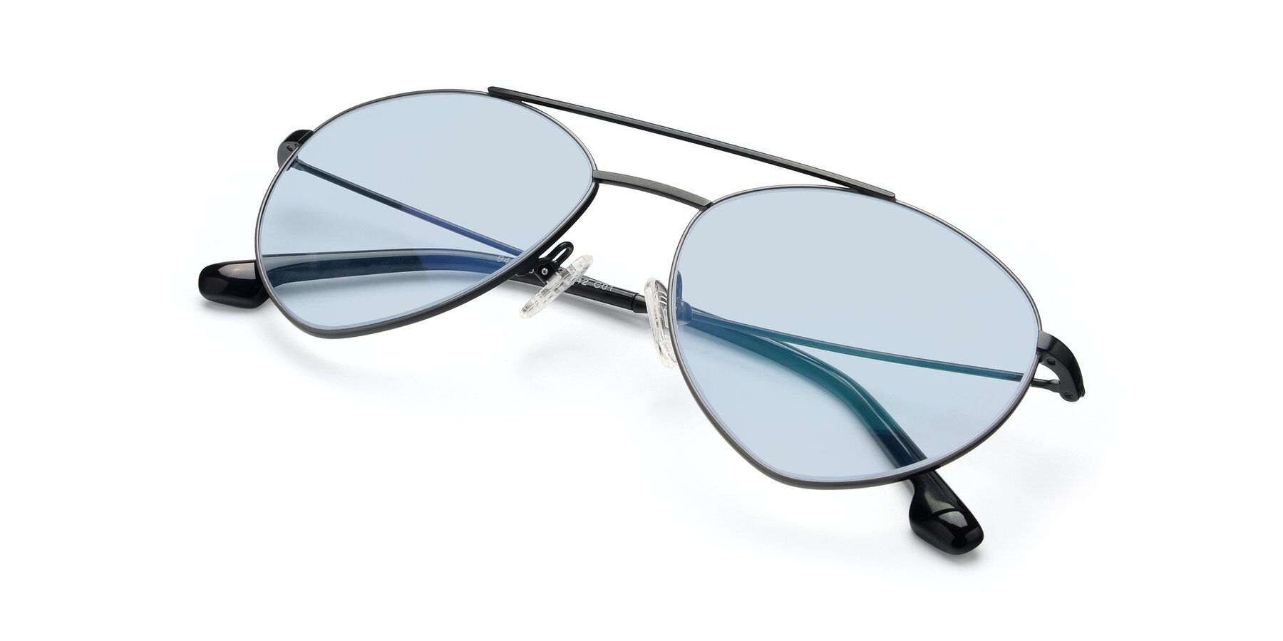 View of 9459 in Matte Black-Grey with Light Blue Tinted Lenses
