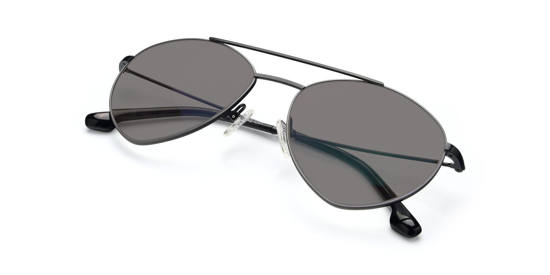 View of 9459 in Matte Black-Grey with Medium Gray Tinted Lenses
