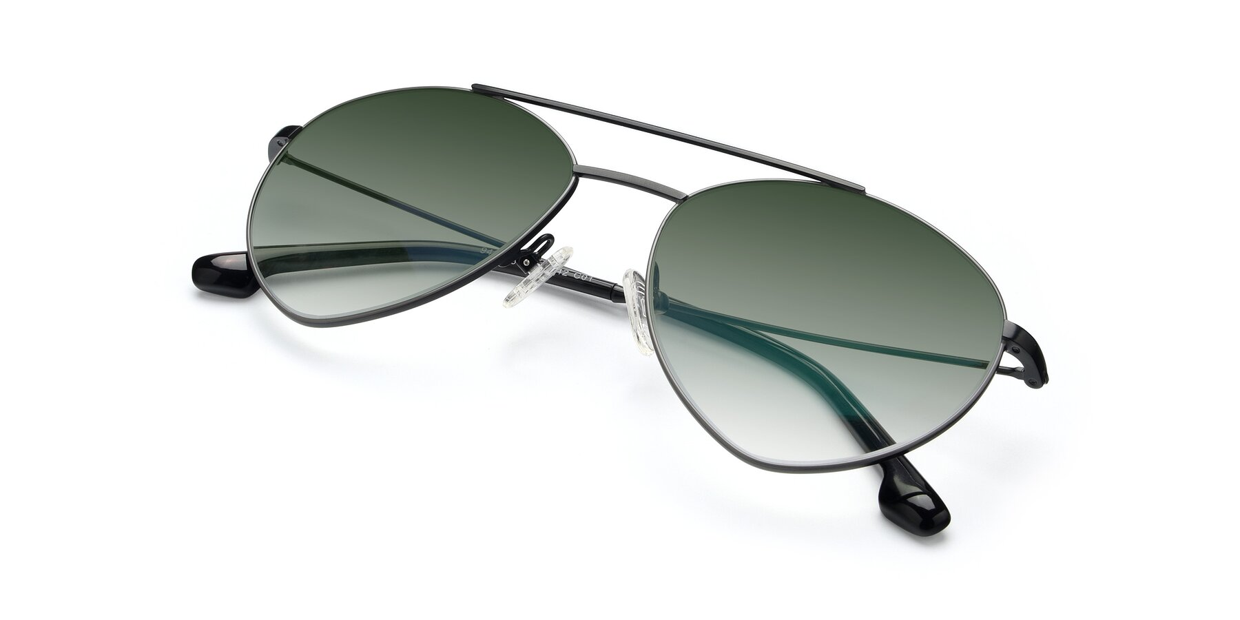 View of 9459 in Matte Black-Grey with Green Gradient Lenses