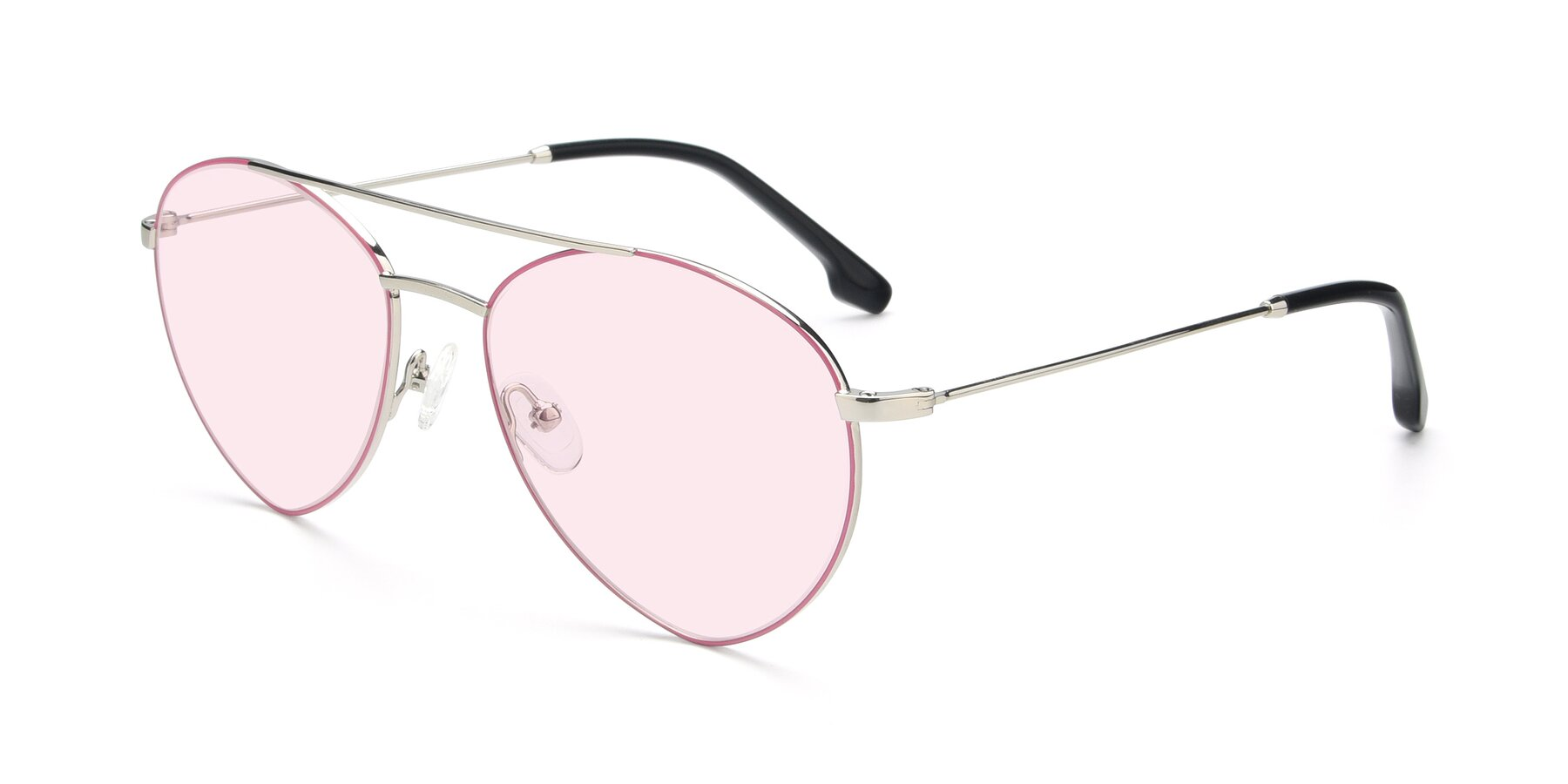 Angle of 9459 in Silver-Pink with Light Pink Tinted Lenses