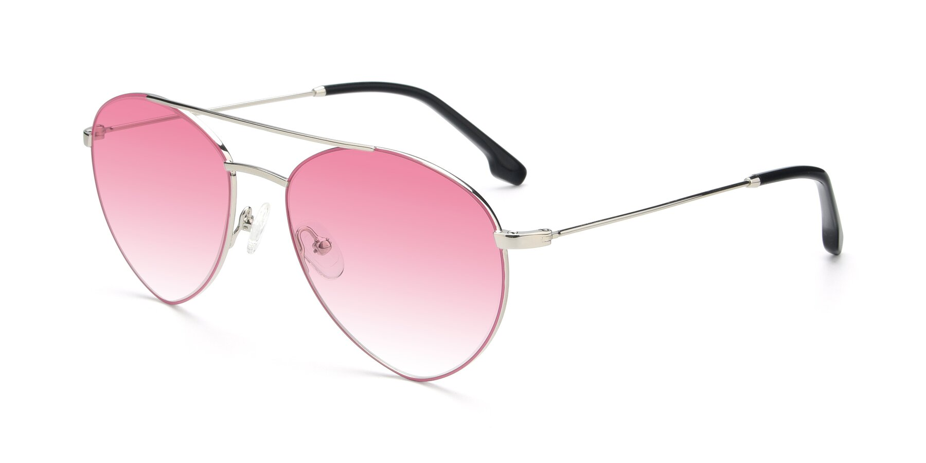 Angle of 9459 in Silver-Pink with Pink Gradient Lenses