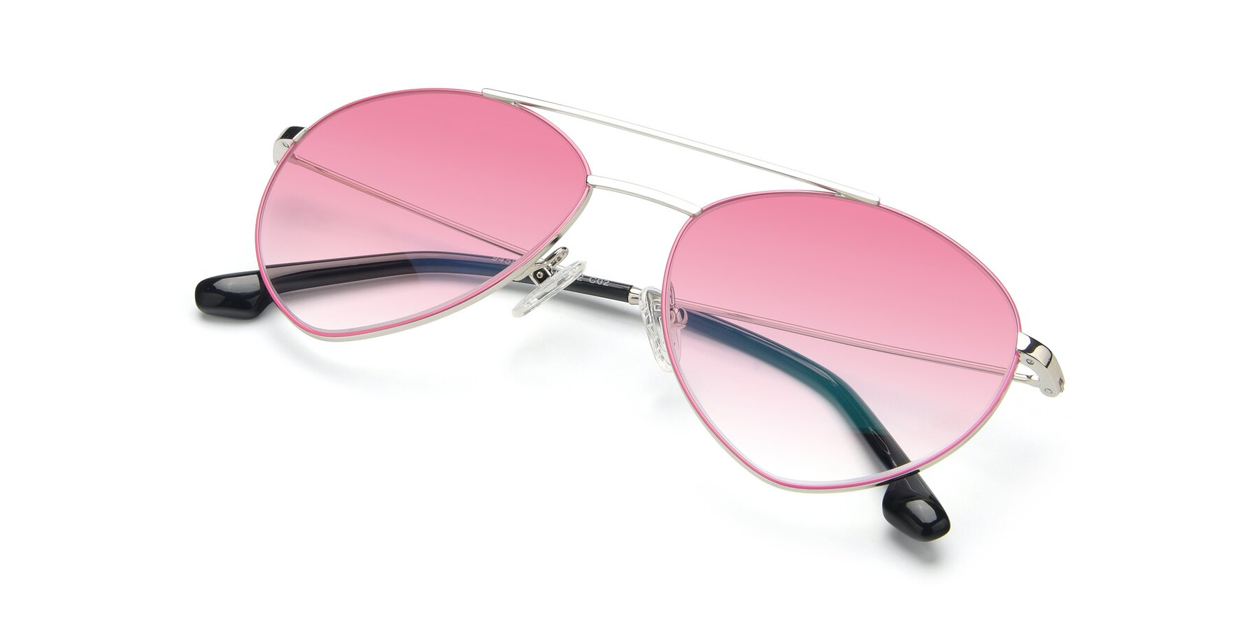 View of 9459 in Silver-Pink with Pink Gradient Lenses