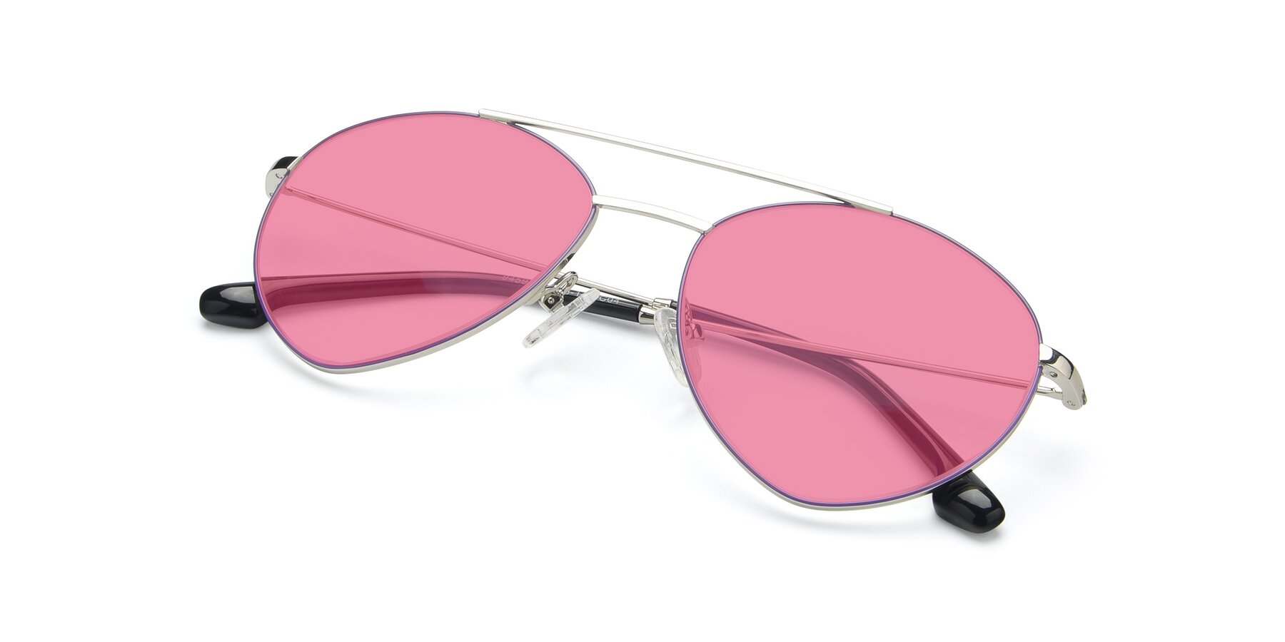 View of 9459 in Silver-Purple with Pink Tinted Lenses
