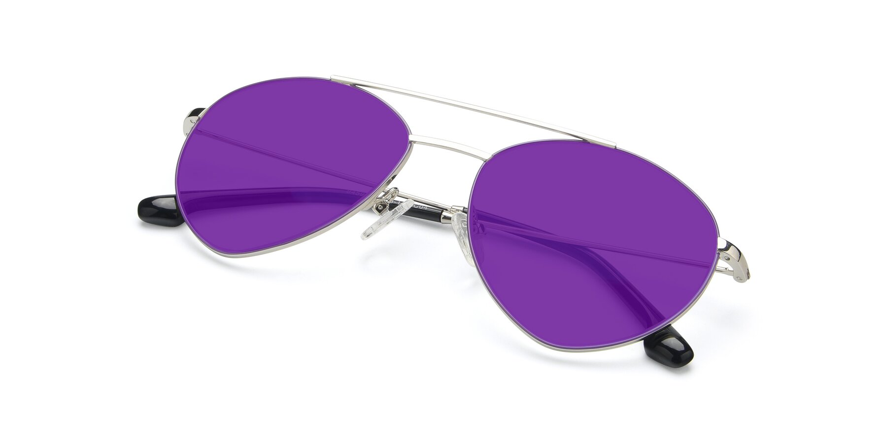 View of 9459 in Silver-Purple with Purple Tinted Lenses