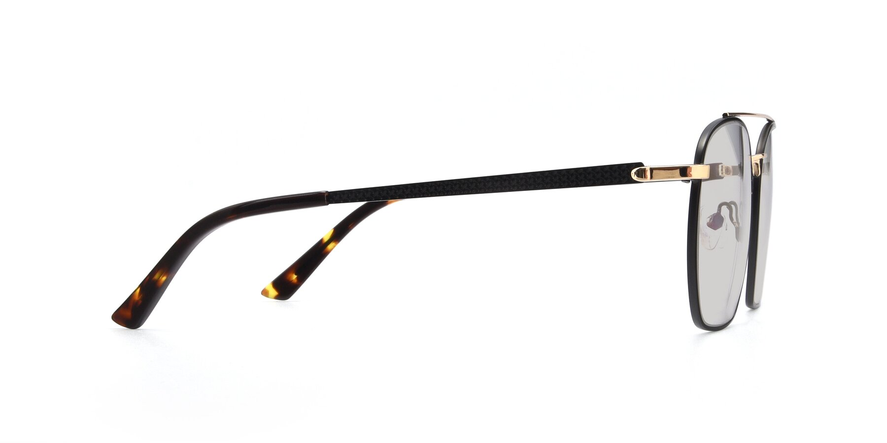 Side of 9425 in Black-Gold with Light Gray Tinted Lenses