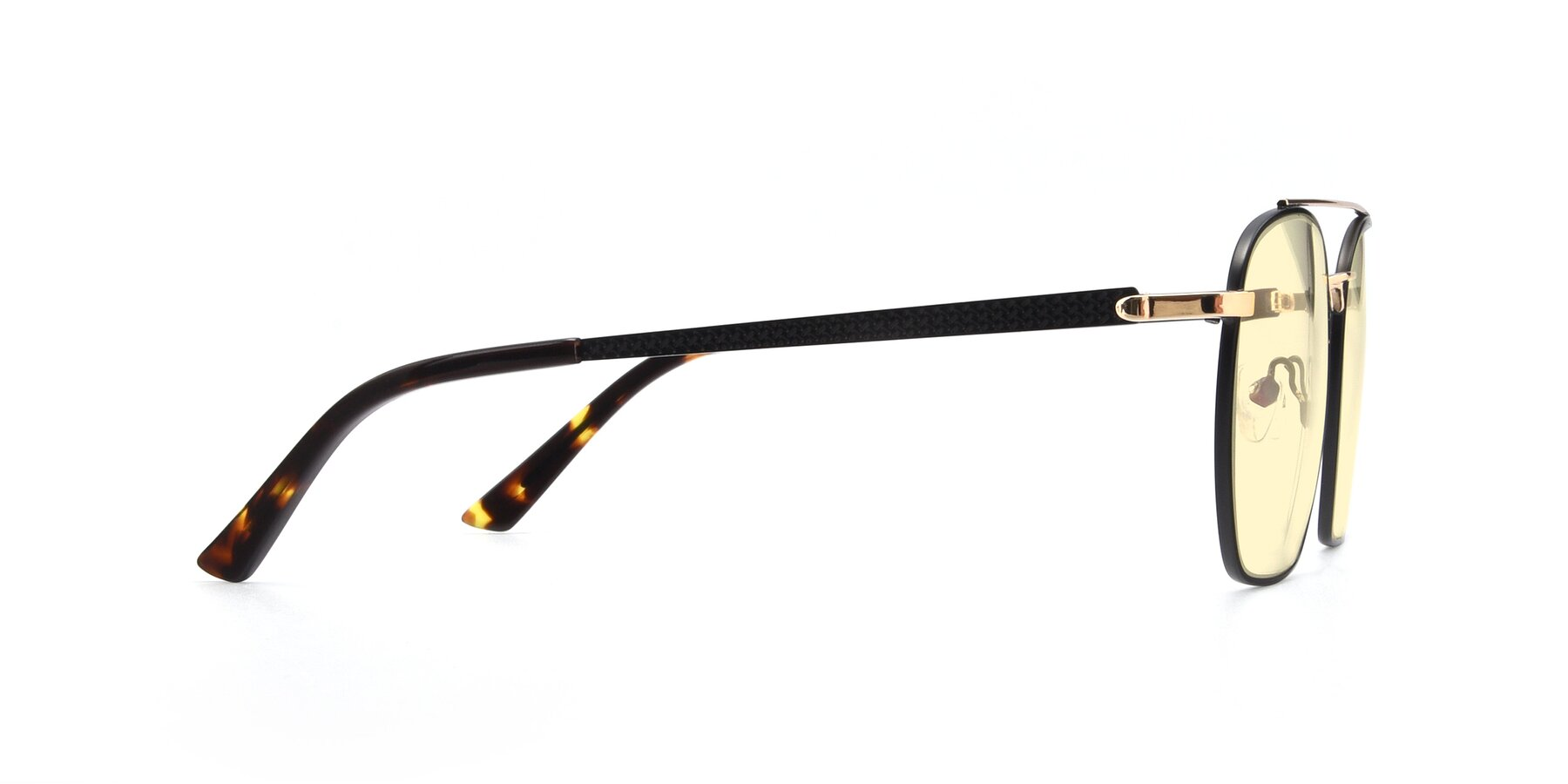 Side of 9425 in Black-Gold with Light Yellow Tinted Lenses
