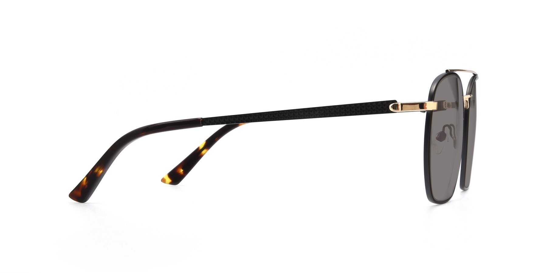 Side of 9425 in Black-Gold with Medium Gray Tinted Lenses