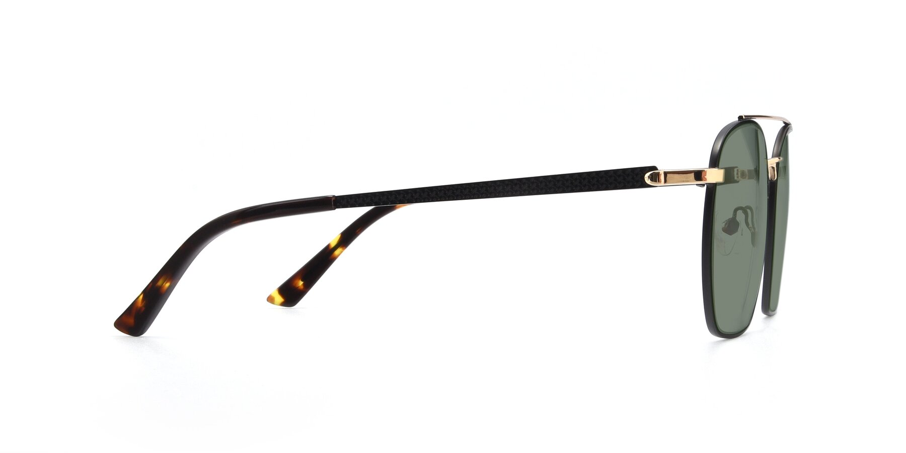 Side of 9425 in Black-Gold with Medium Green Tinted Lenses