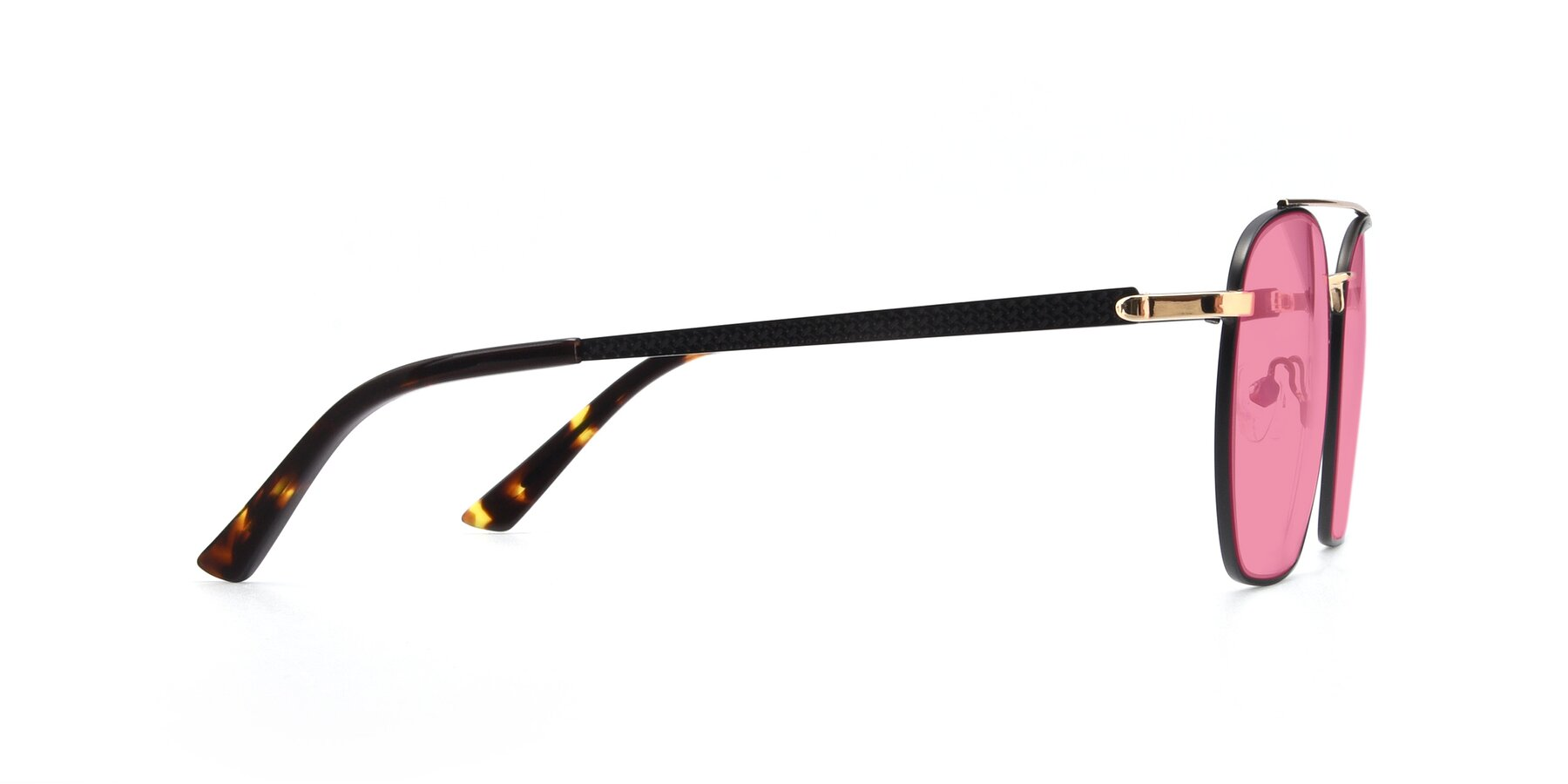 Side of 9425 in Black-Gold with Pink Tinted Lenses