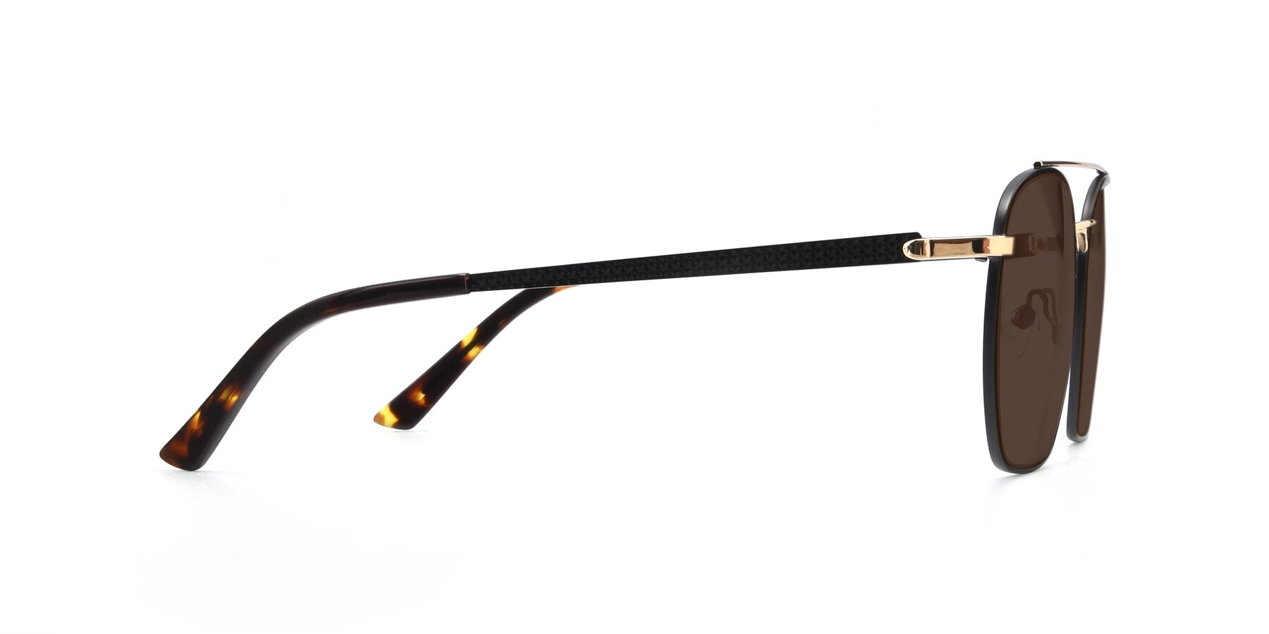 Side of 9425 in Black-Gold with Brown Tinted Lenses