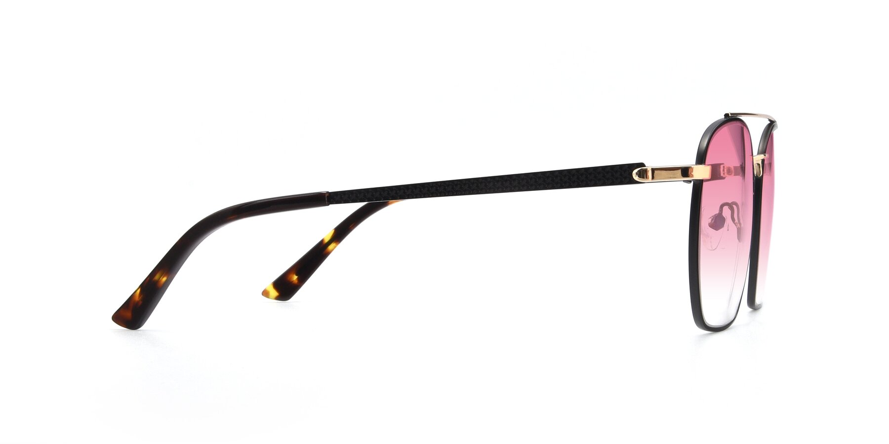 Side of 9425 in Black-Gold with Pink Gradient Lenses