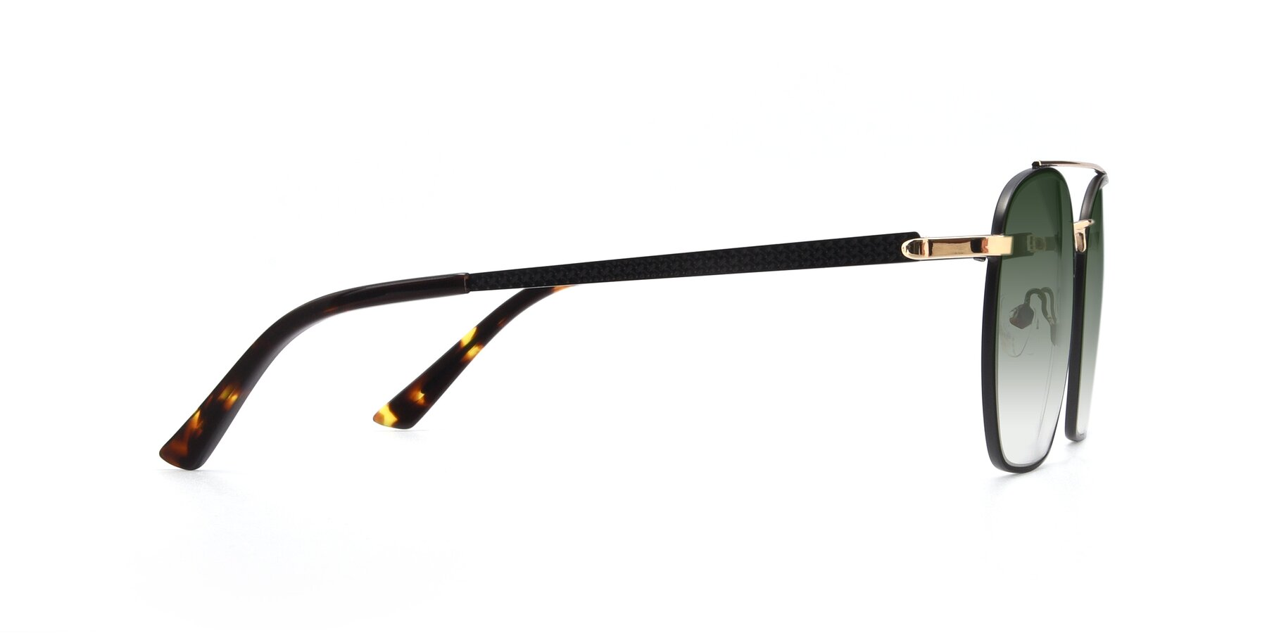 Side of 9425 in Black-Gold with Green Gradient Lenses