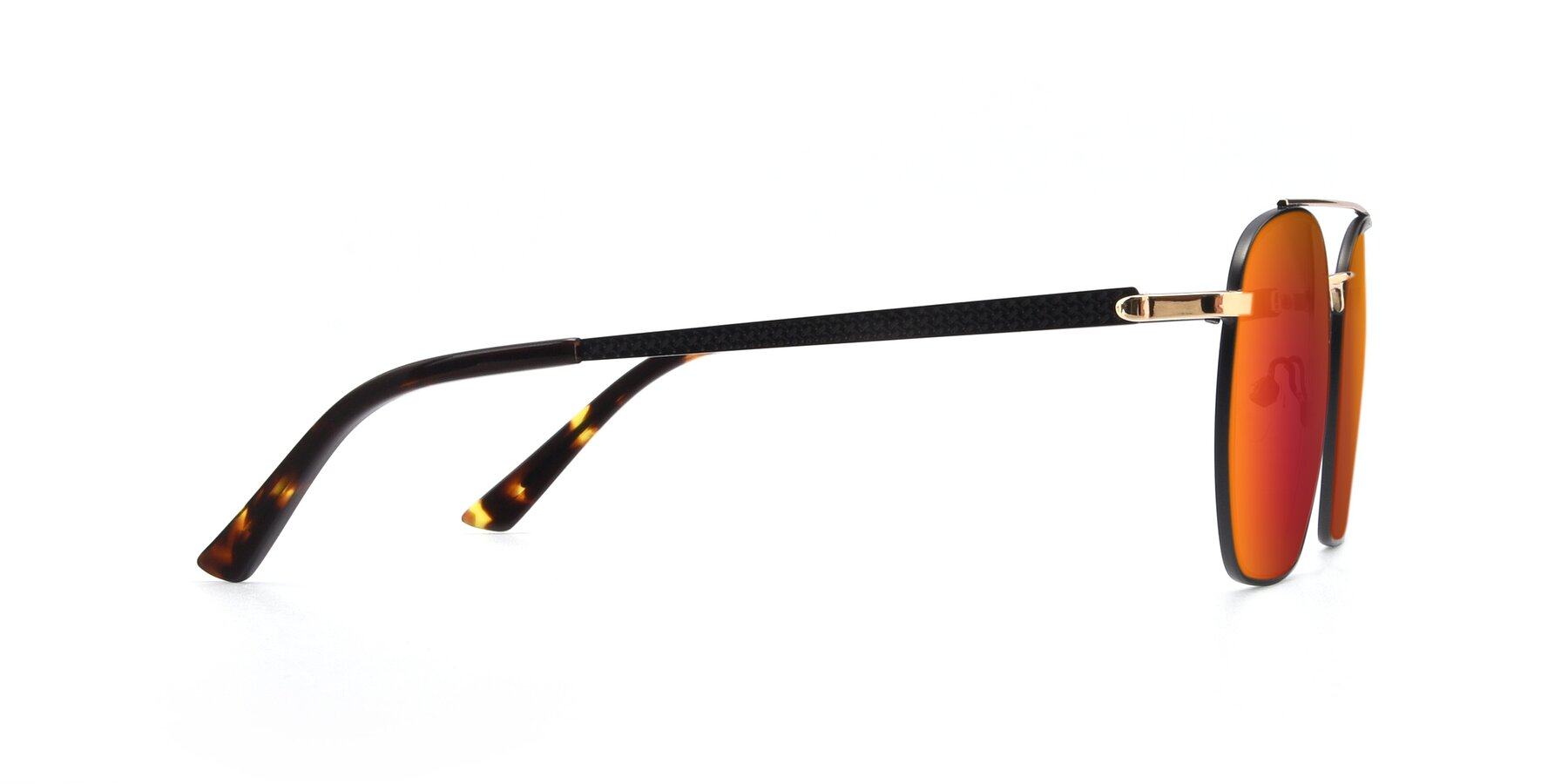 Side of 9425 in Black-Gold with Red Gold Mirrored Lenses