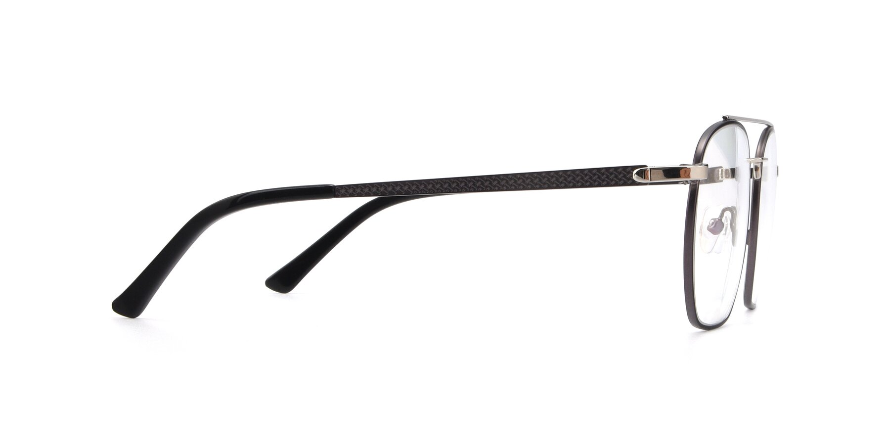 Side of 9425 in Black-Silver with Clear Blue Light Blocking Lenses