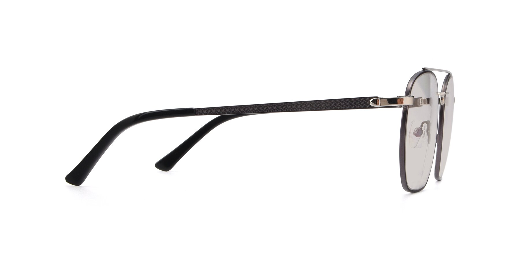 Side of 9425 in Black-Silver with Light Brown Tinted Lenses