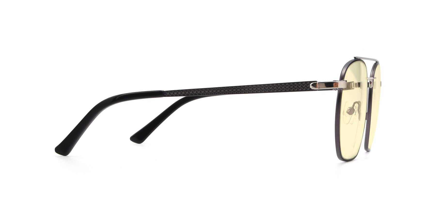 Side of 9425 in Black-Silver with Light Yellow Tinted Lenses