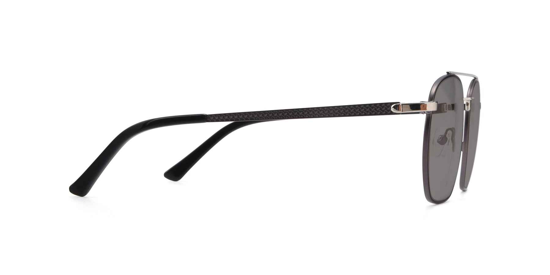 Side of 9425 in Black-Silver with Medium Gray Tinted Lenses
