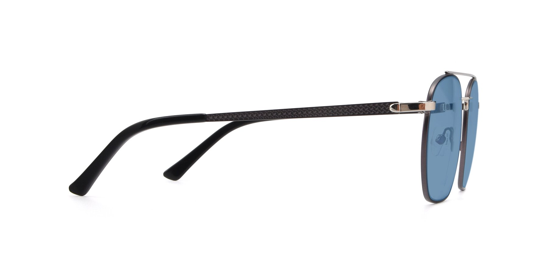 Side of 9425 in Black-Silver with Medium Blue Tinted Lenses