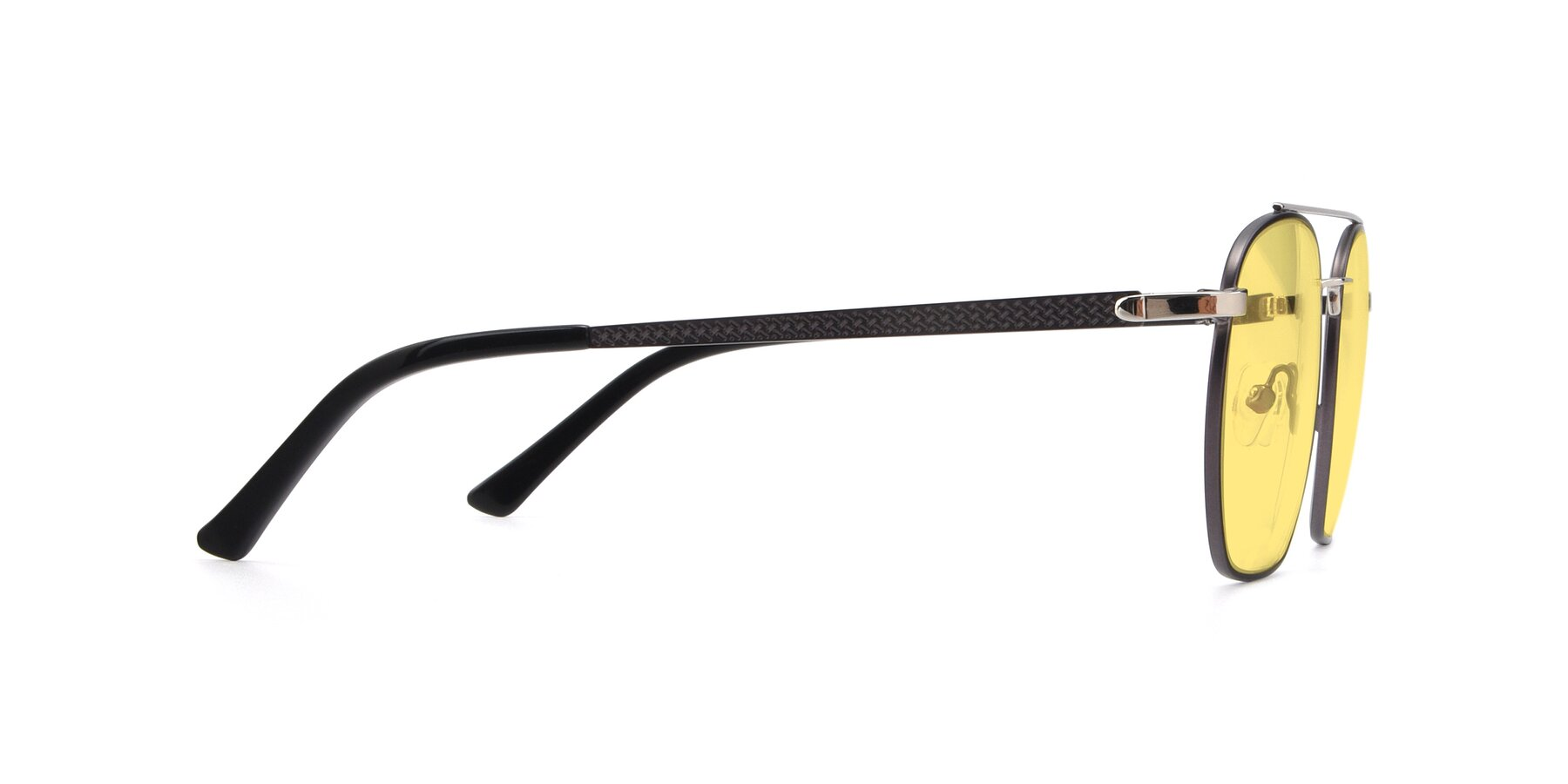 Side of 9425 in Black-Silver with Medium Yellow Tinted Lenses