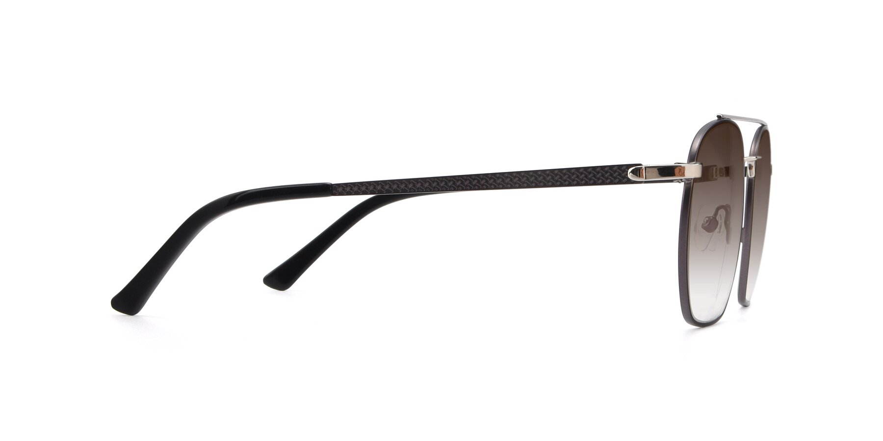Side of 9425 in Black-Silver with Brown Gradient Lenses