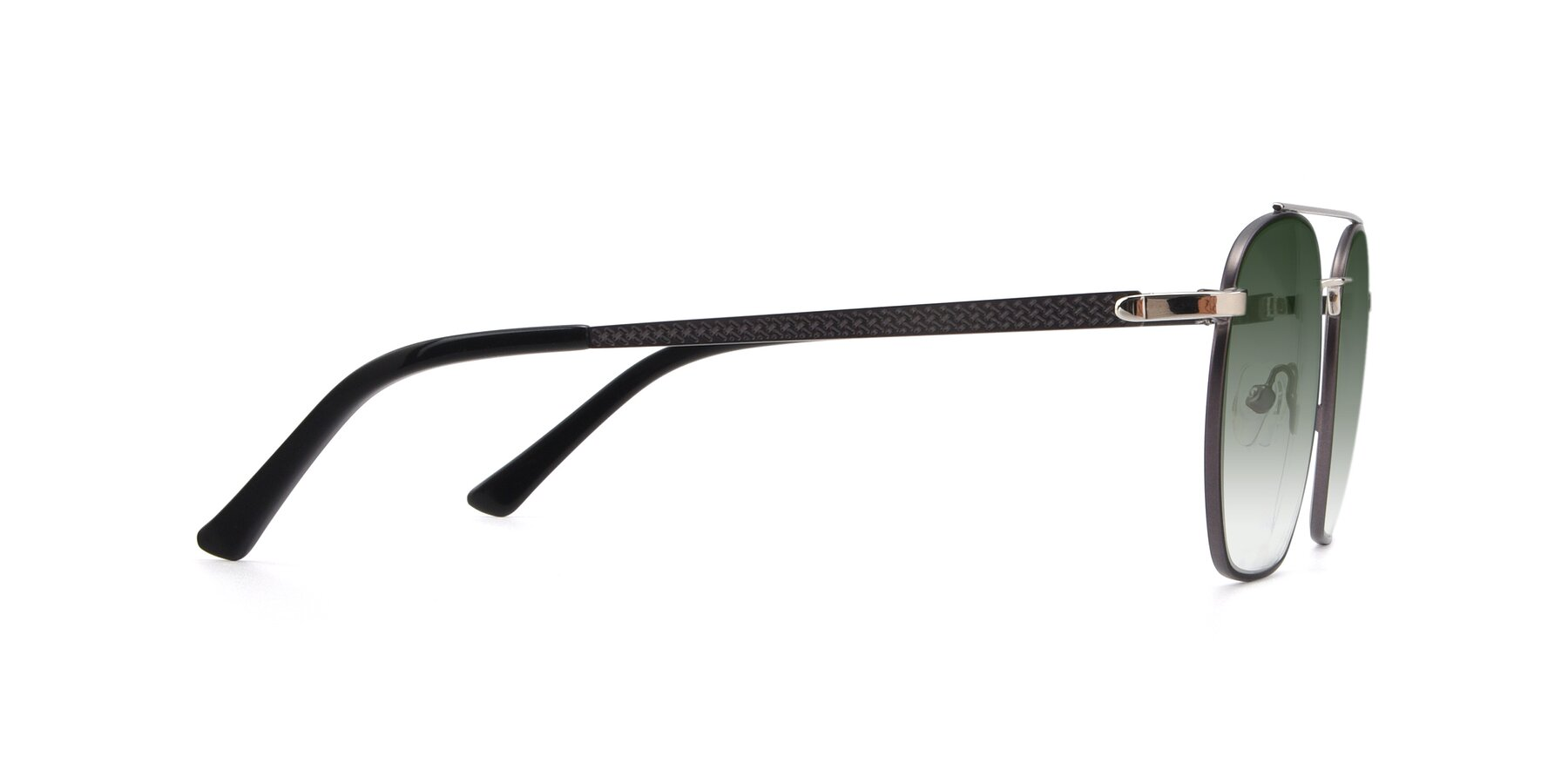 Side of 9425 in Black-Silver with Green Gradient Lenses